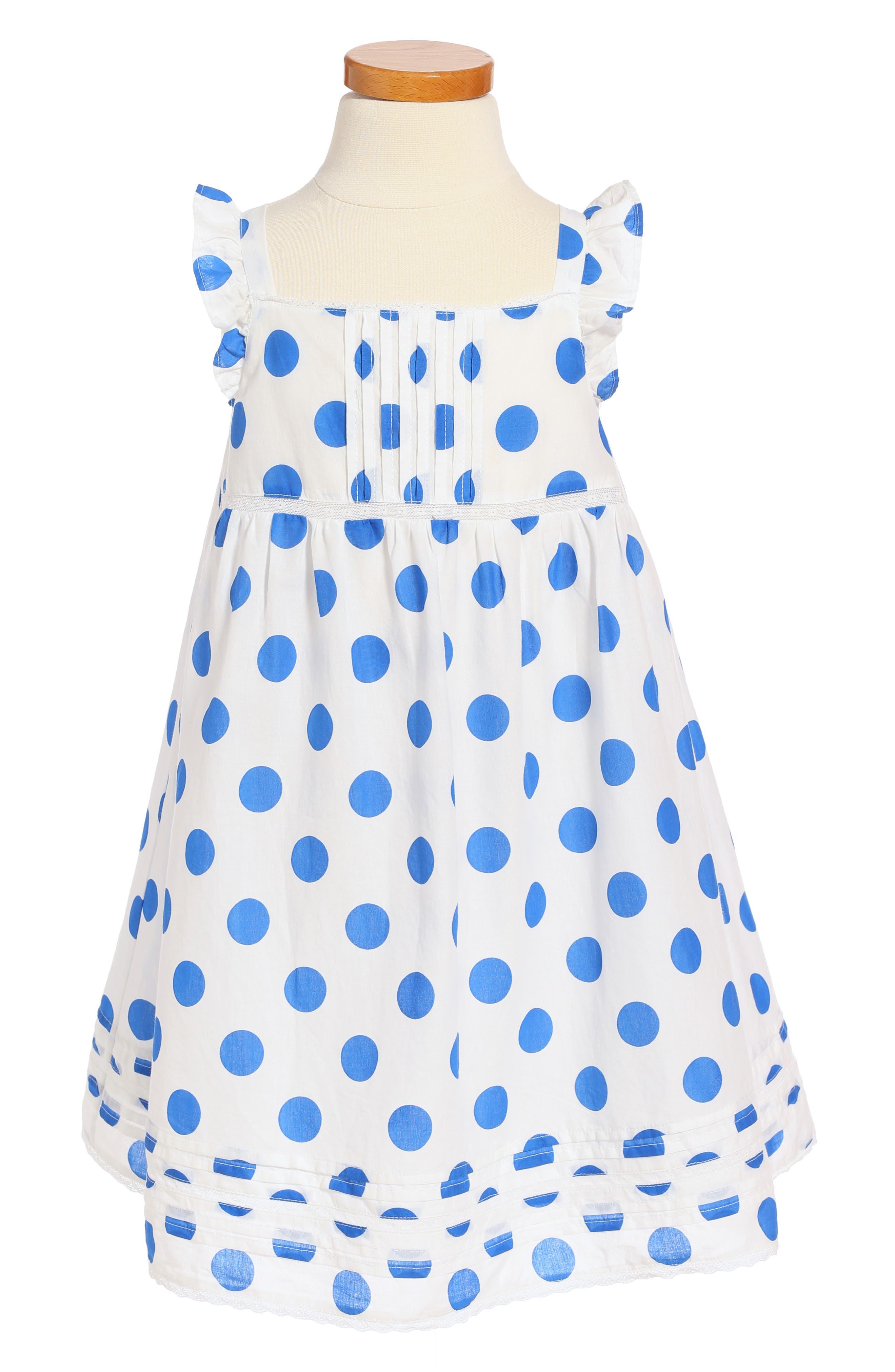 Mini Boden Lace Trim Dress (Toddler Girls, Little Girls & Big Girls)