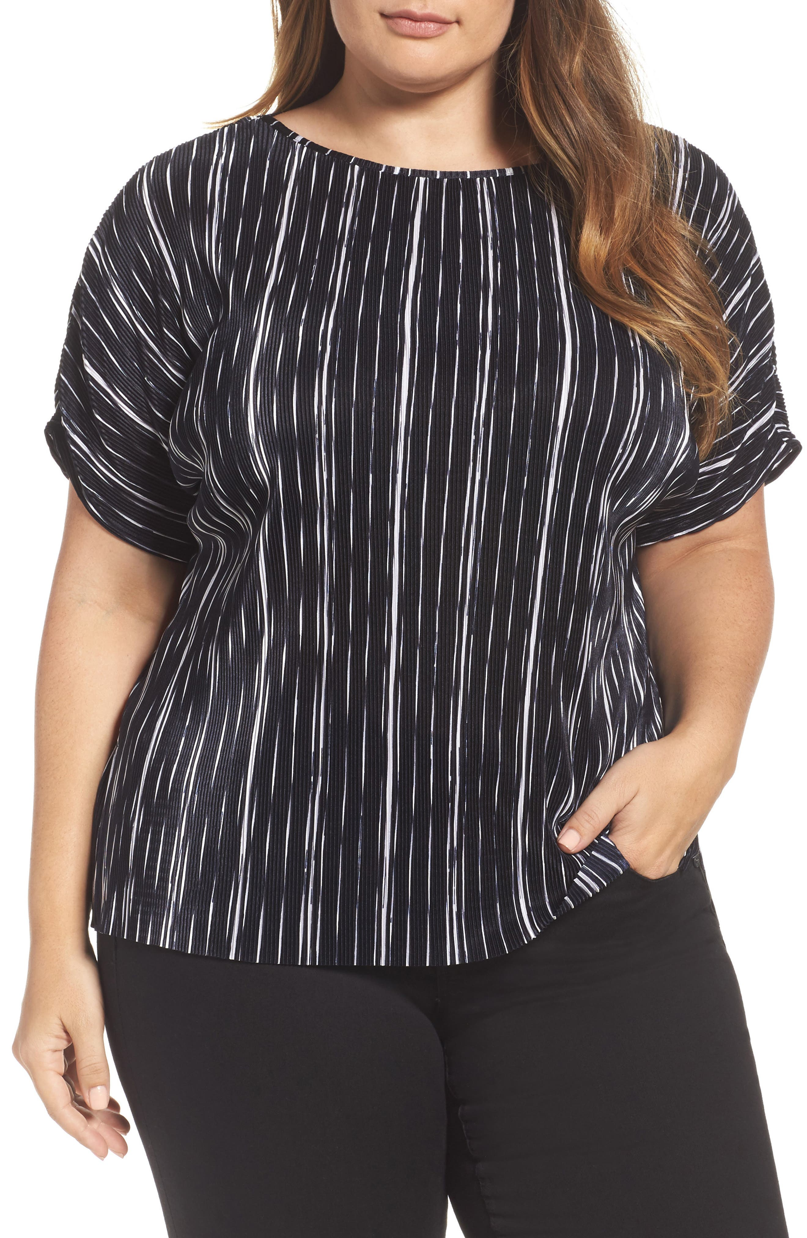 Vince Camuto Bodre Dolman Sleeve Top (Plus Size)
