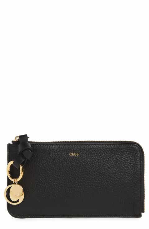 Chloé Medium Alphabet Leather Charm Wallet