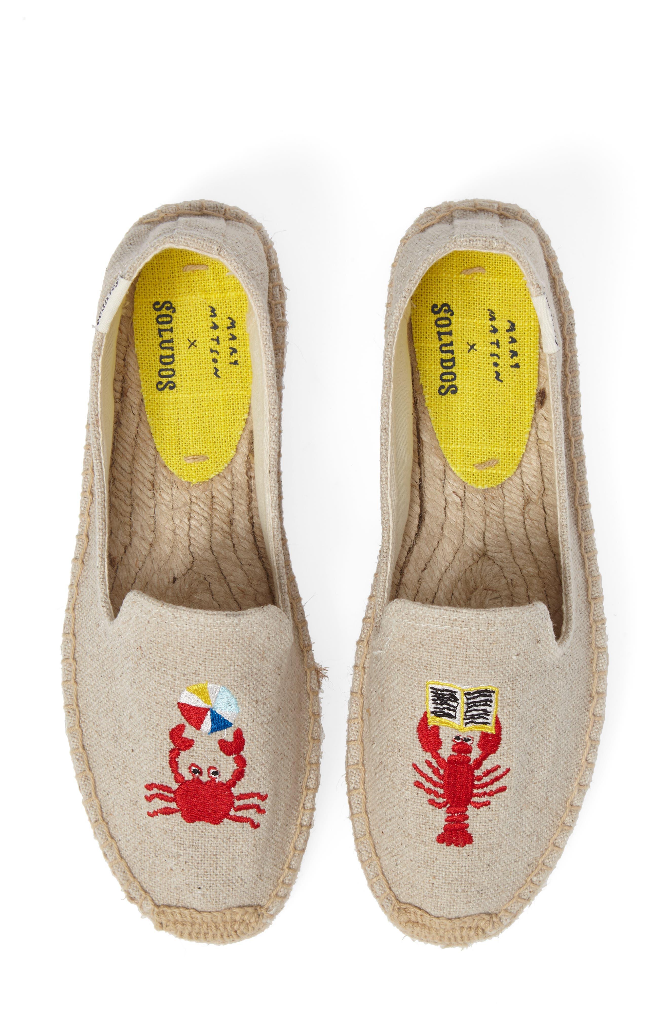 Soludos x Mary Matson Lobster & Crab Platform Espadrille (Women)