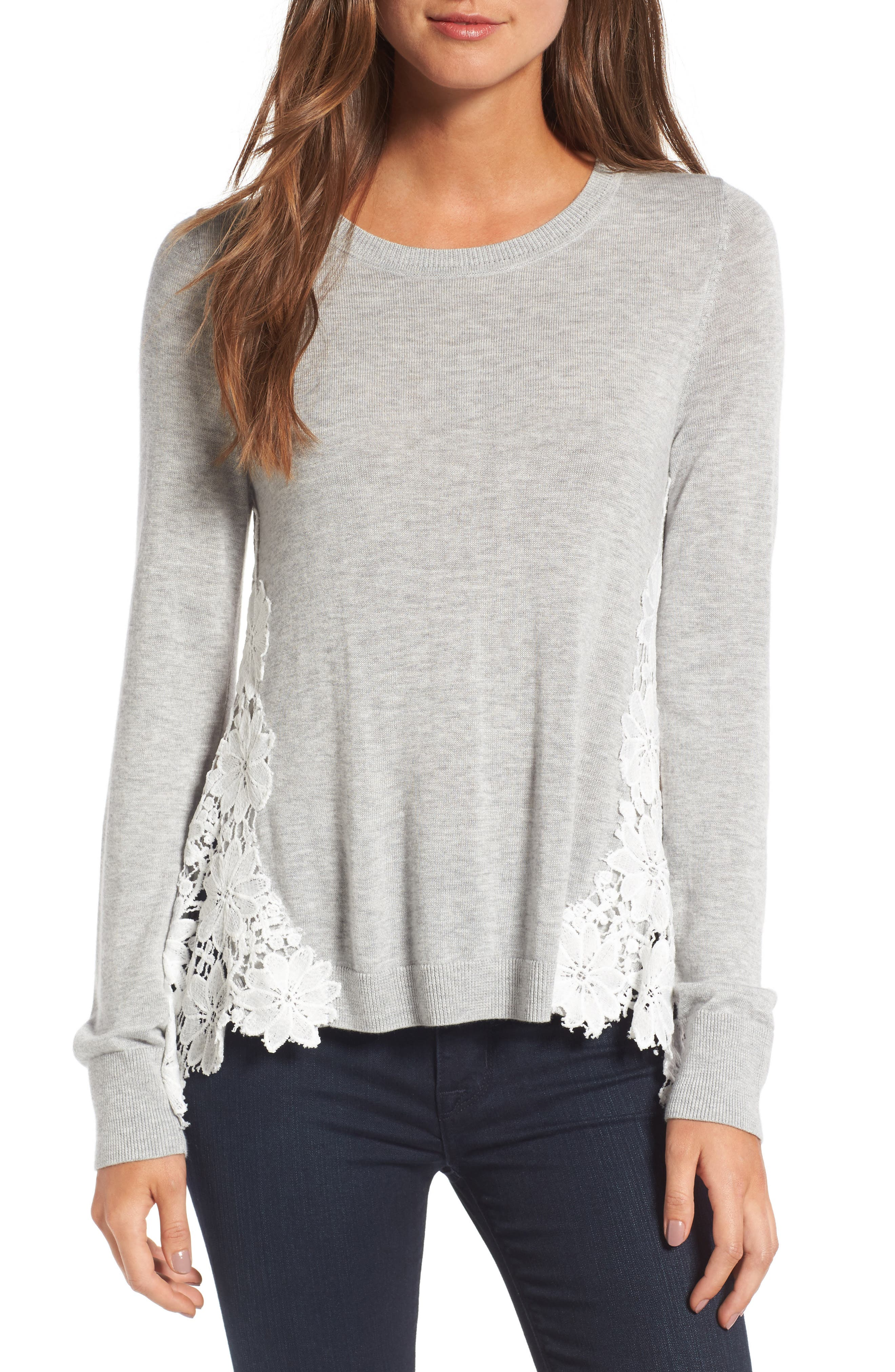 Chelsea28 Lace Back Sweater