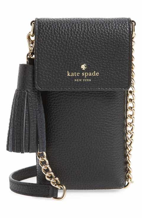 kate spade new york north/south leather smartphone crossbody bag