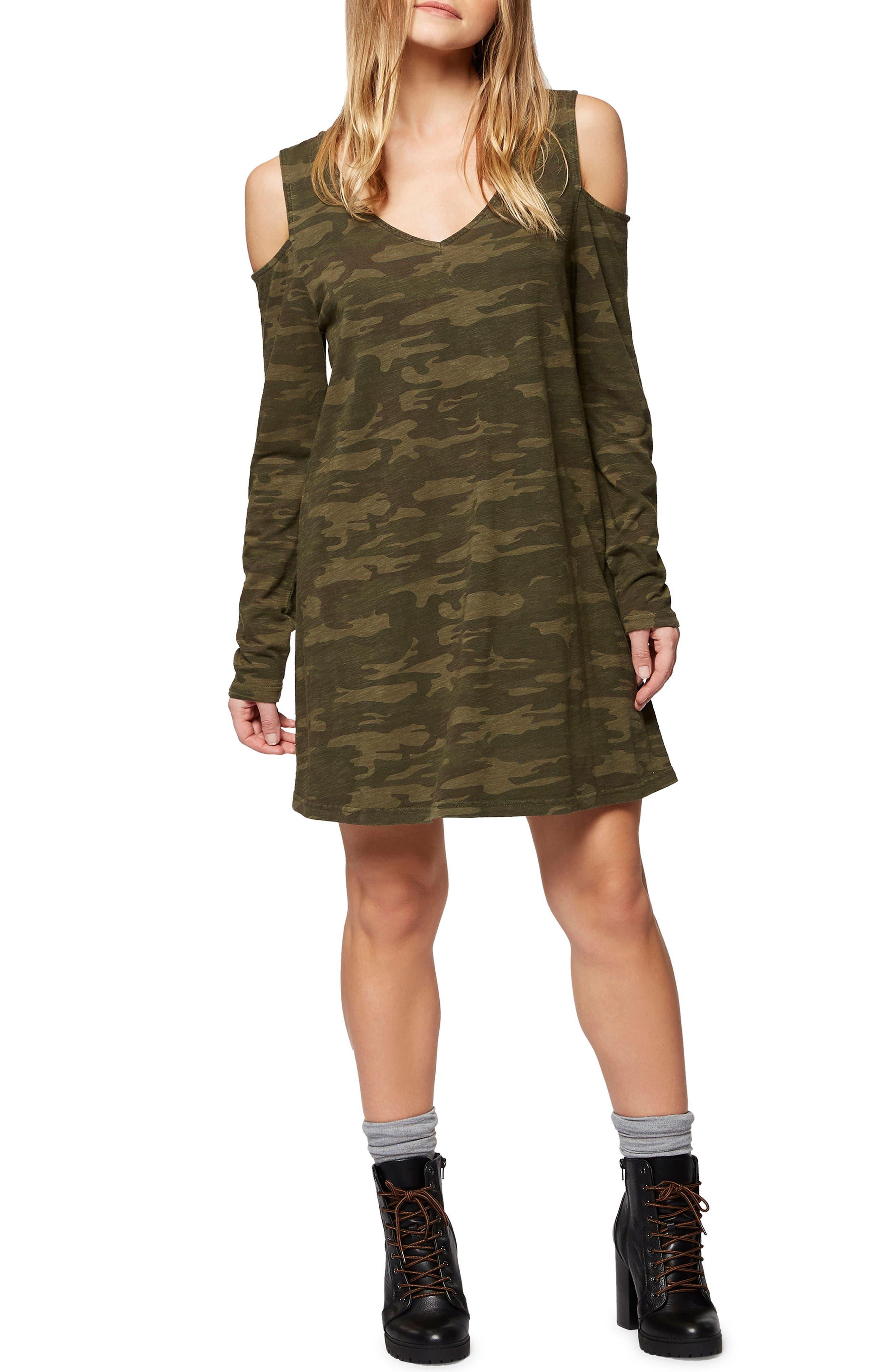 Sanctuary Morgan Cold Shoulder T-Shirt Dress