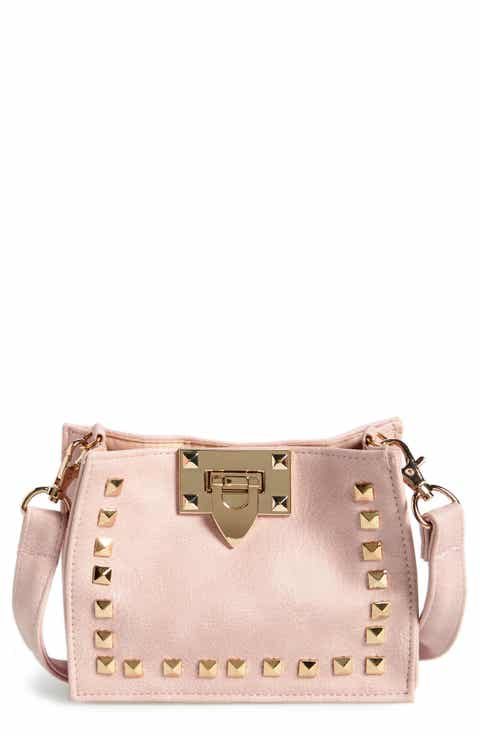Capelli of New York Studded Faux Leather Crossbody Bag (Girls)