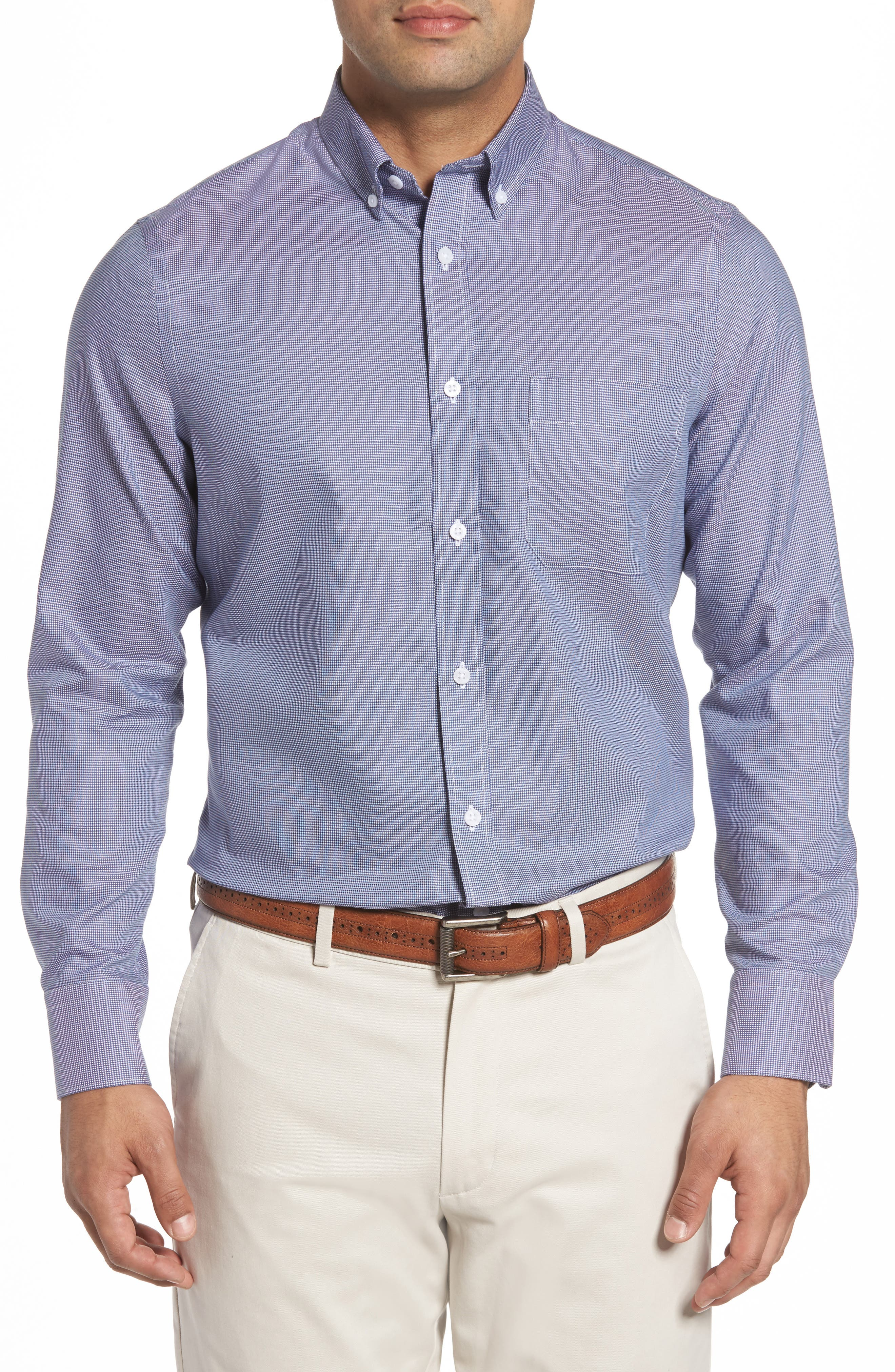 Nordstrom Men's Shop Regular Fit Stretch Sport Shirt (Big & Tall)
