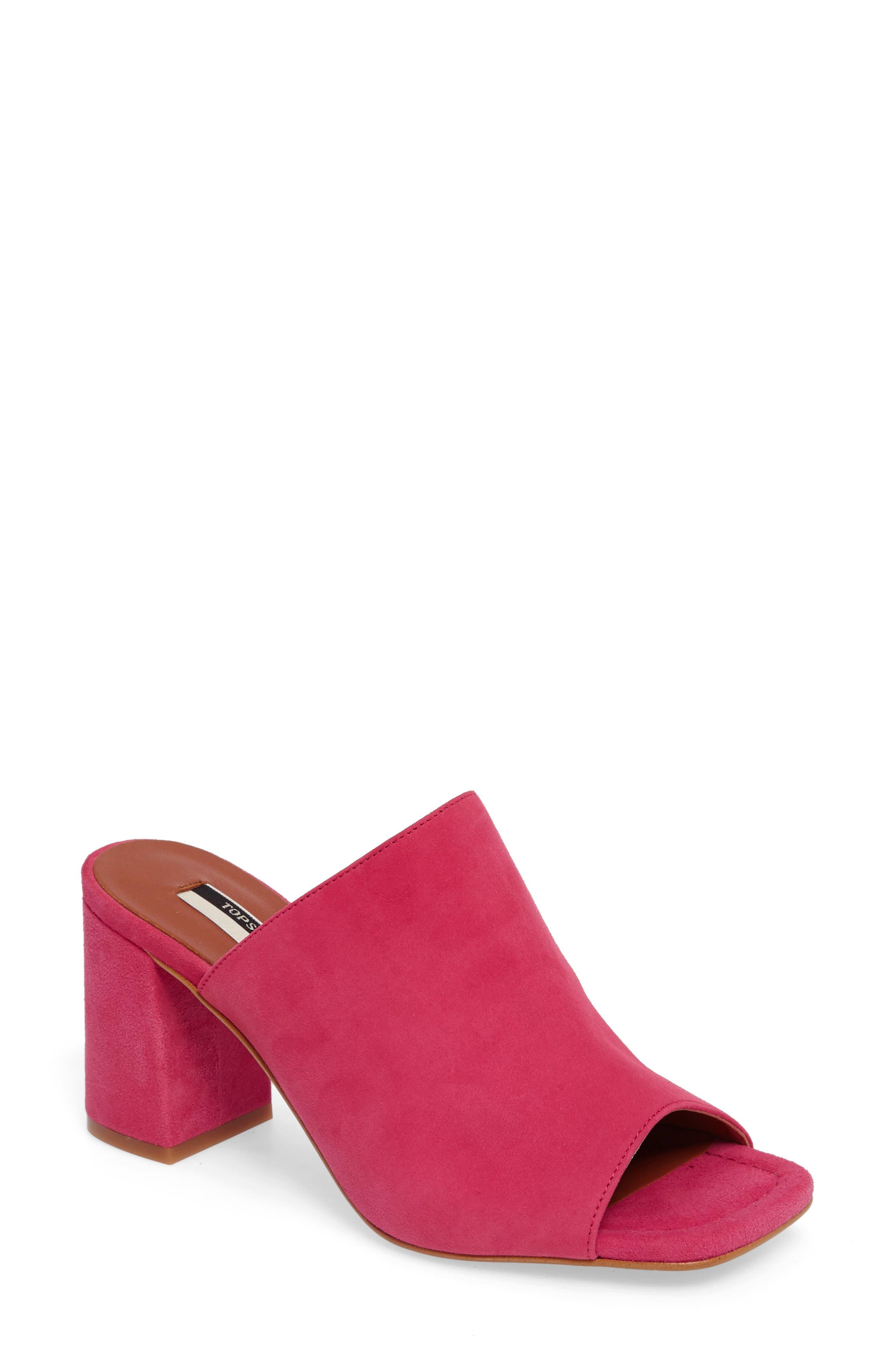 Topshop Novel Square Slide Sandal (Women)