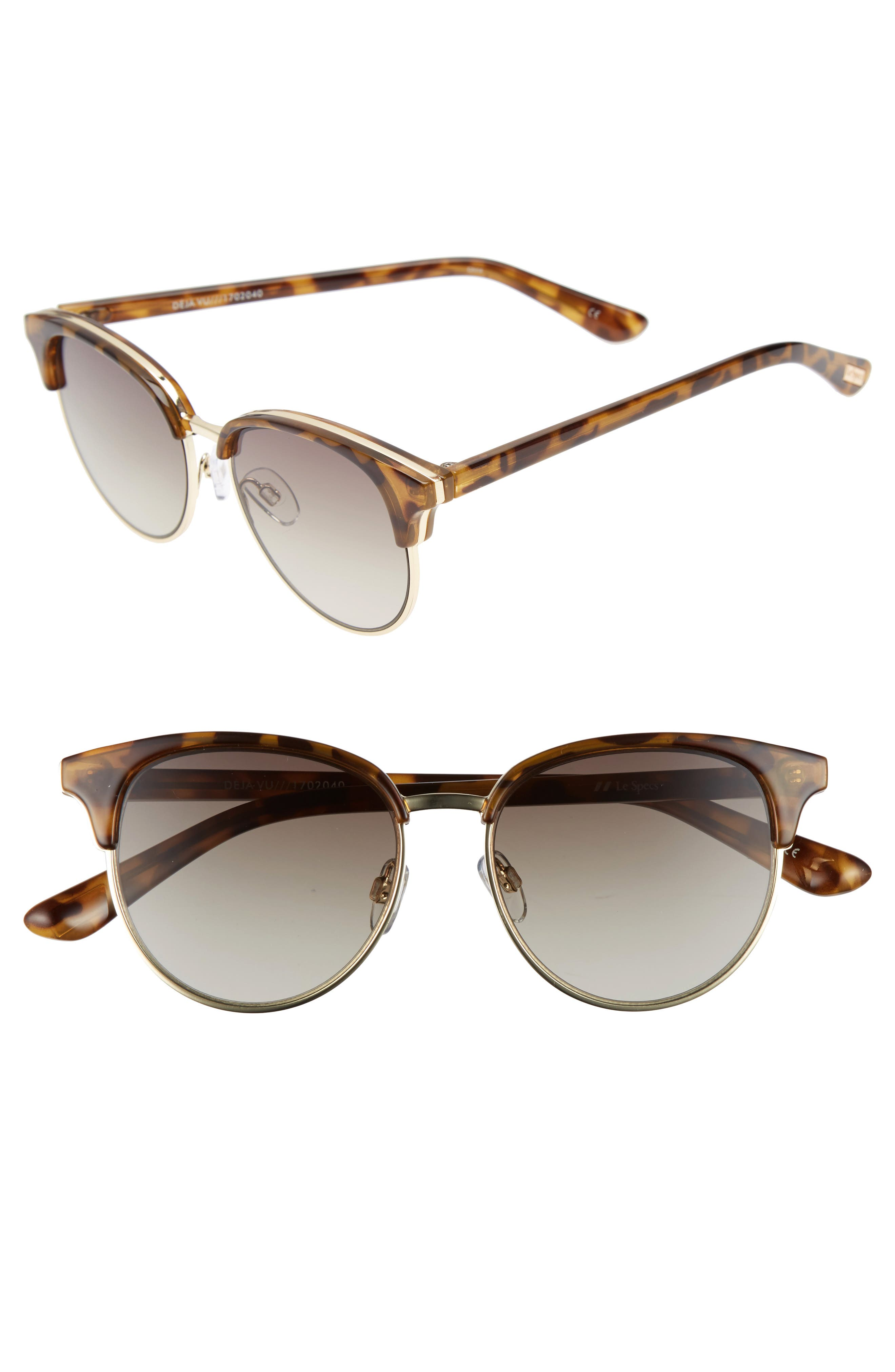 Le Specs Deja Vu 51mm Round Sunglasses