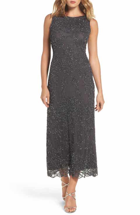 pisarro nights embellished mesh gown regular petite