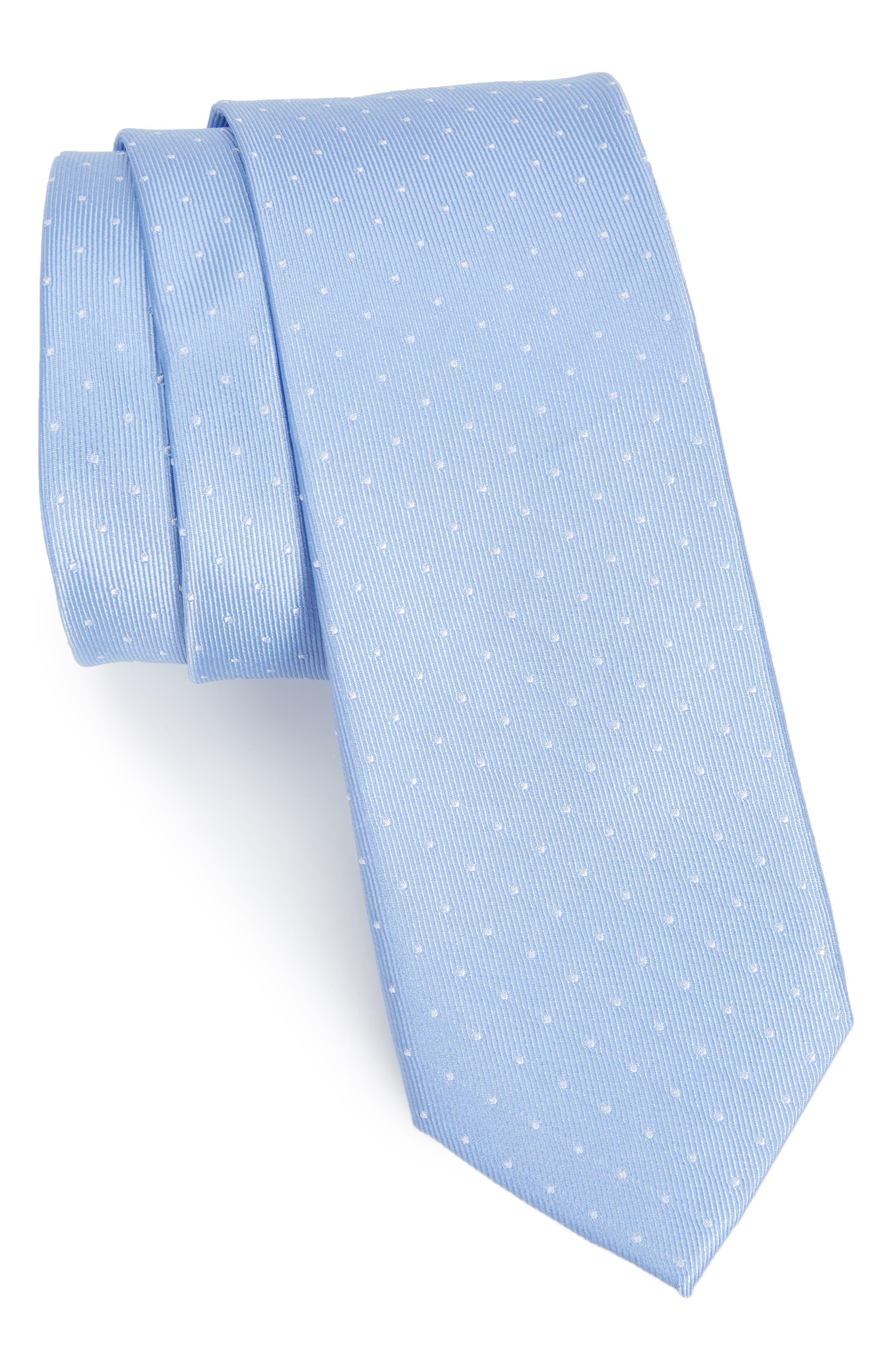 Nordstrom Men's Shop Hartwell Dot Silk Skinny Tie