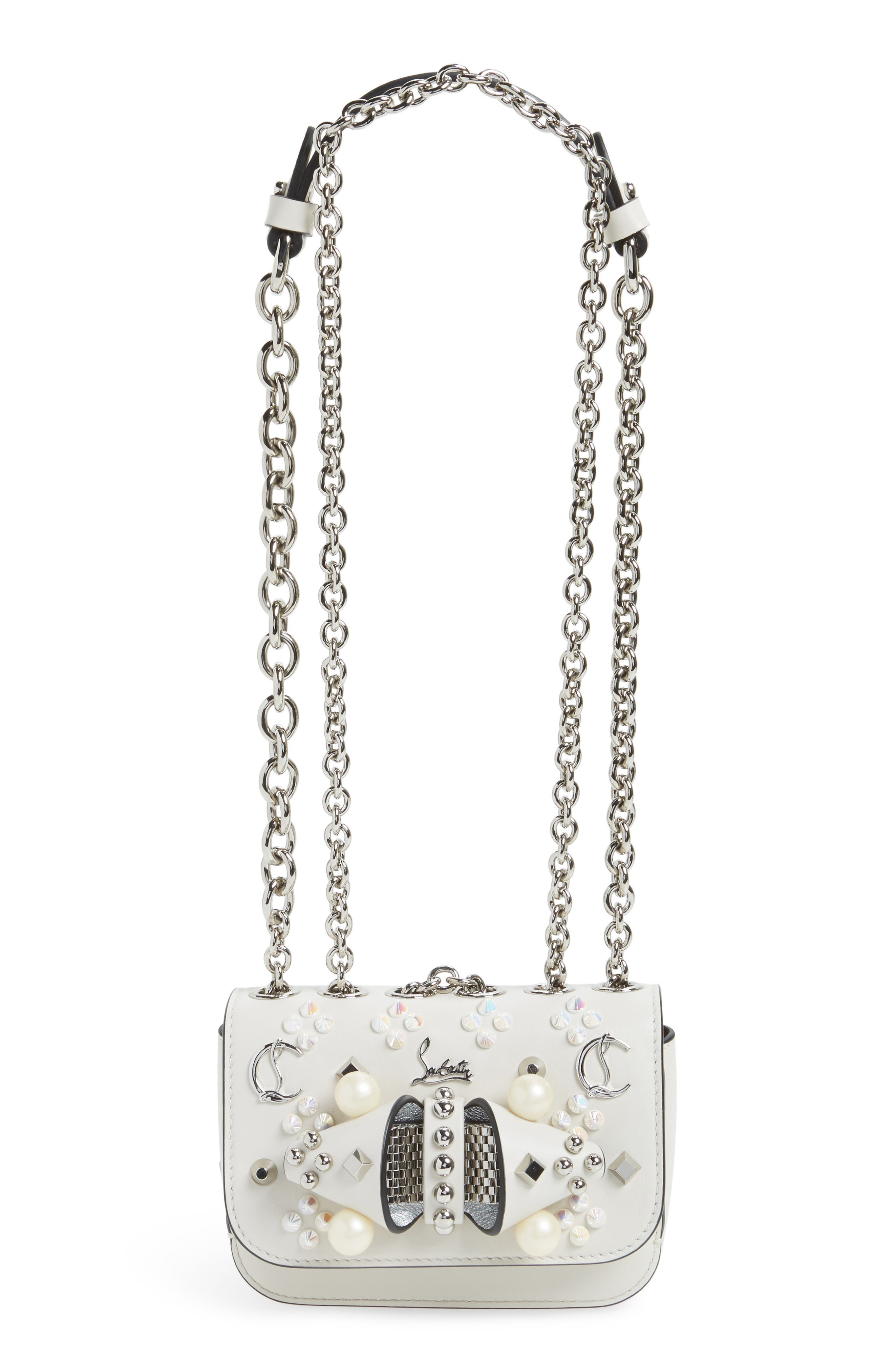 Christian Louboutin Sweet Charity Spiked Calfskin Shoulder/Crossbody Bag