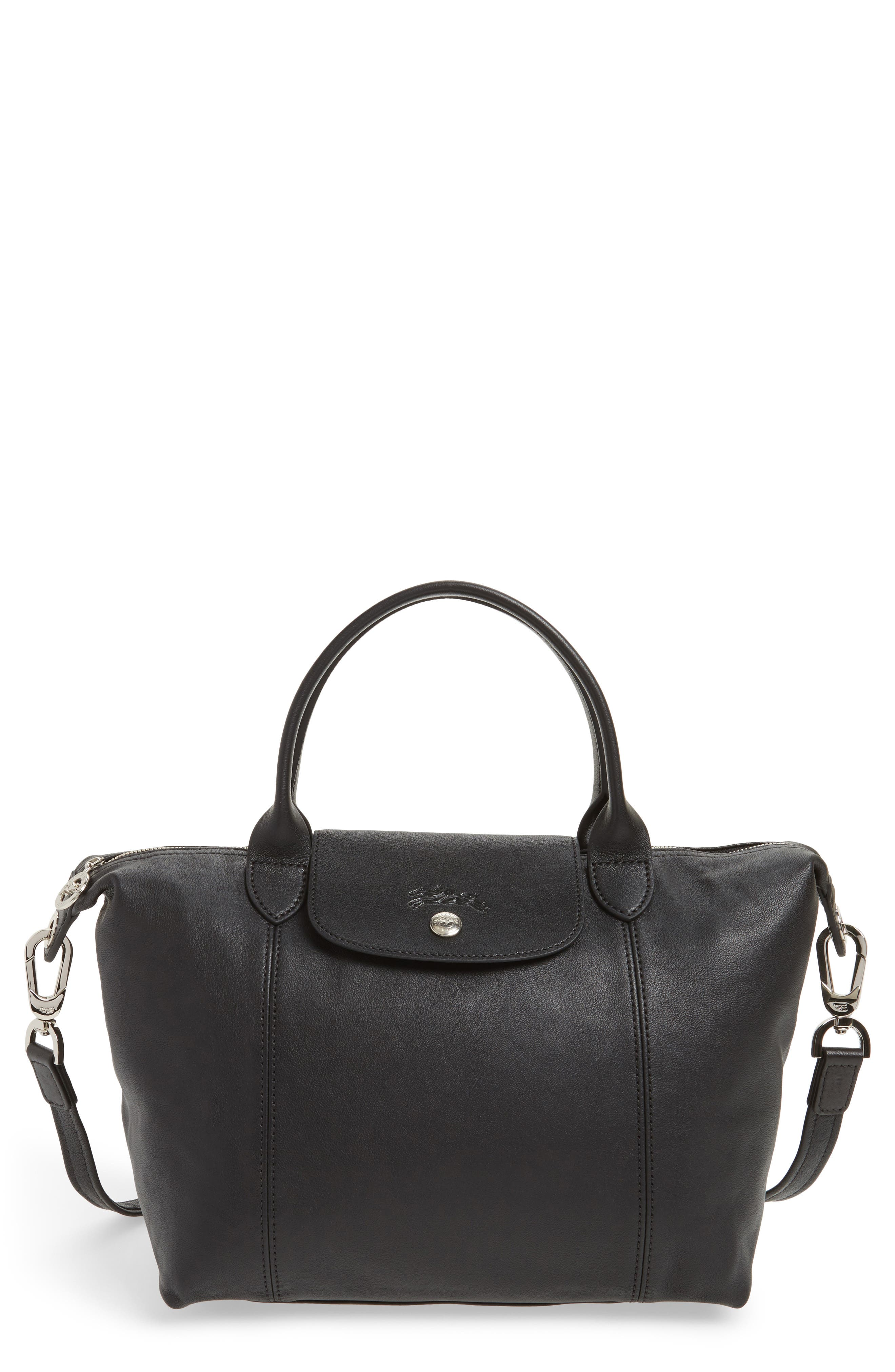 Longchamp 'Le Pliage Cuir' Leather Handbag