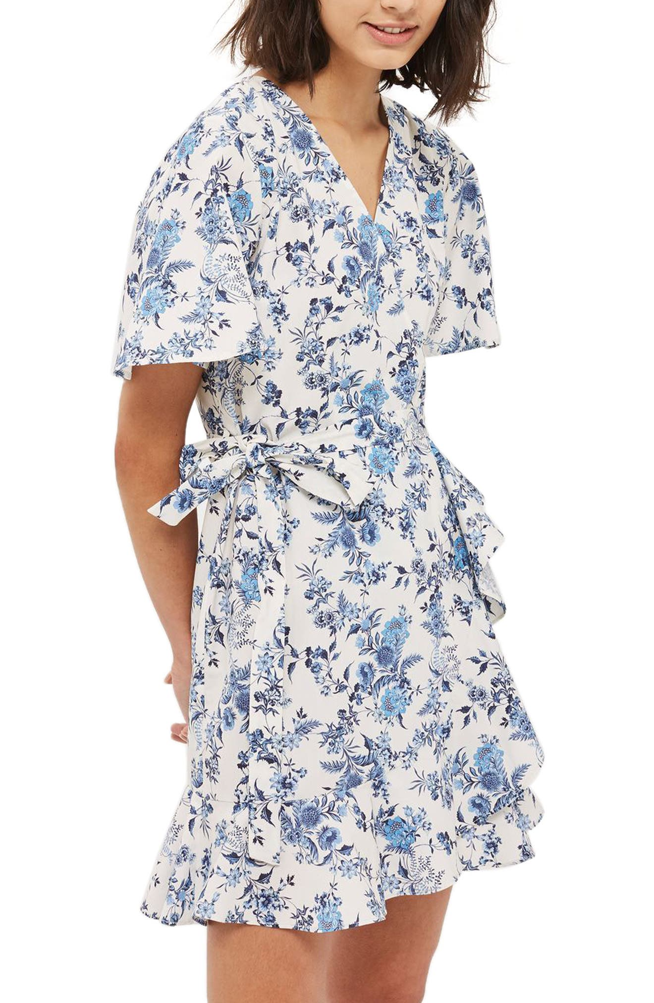 Topshop China Toile Wrap Dress