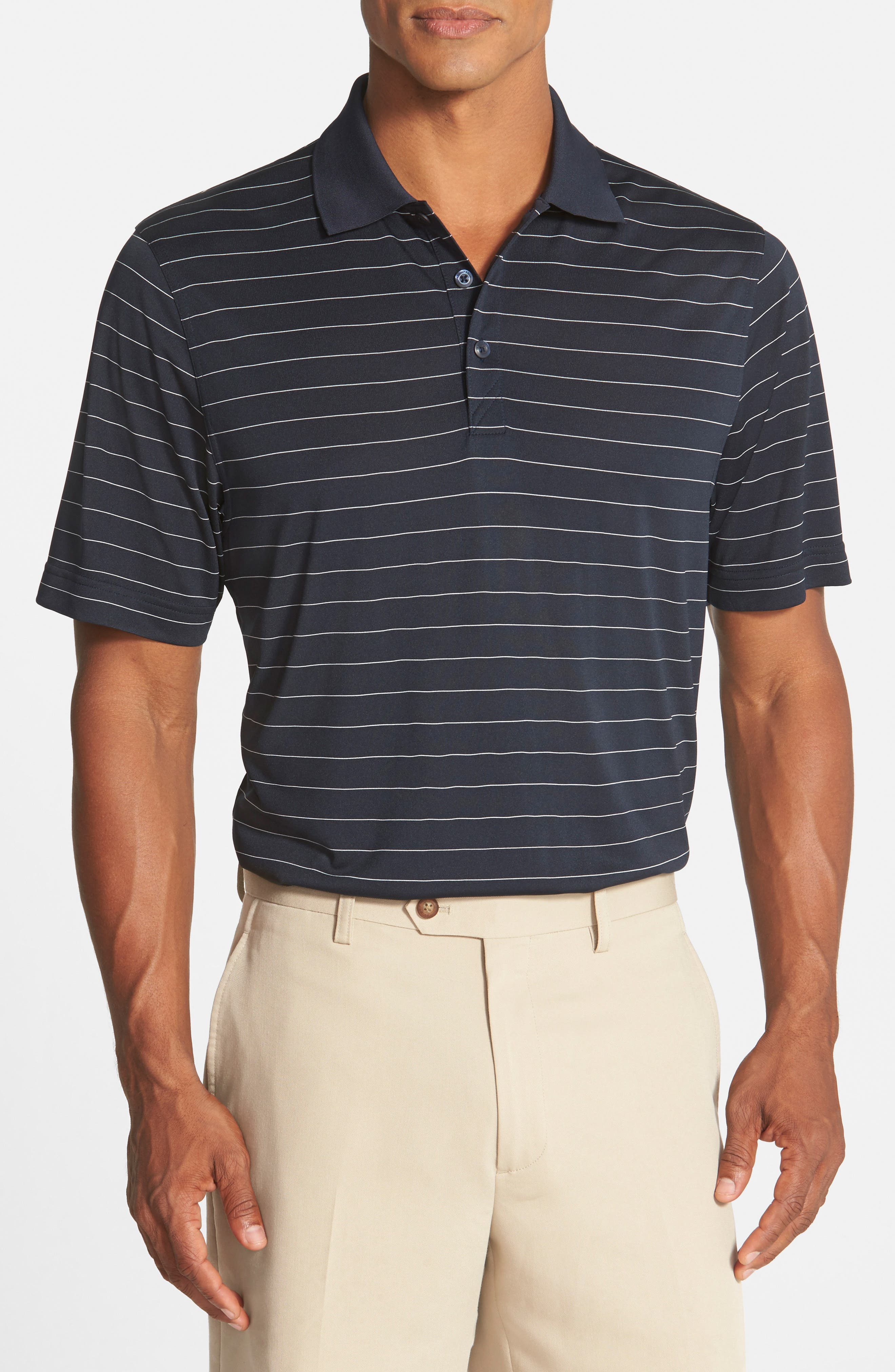Cutter & Buck 'Franklin' Stripe DryTec® Polo (Big & Tall)