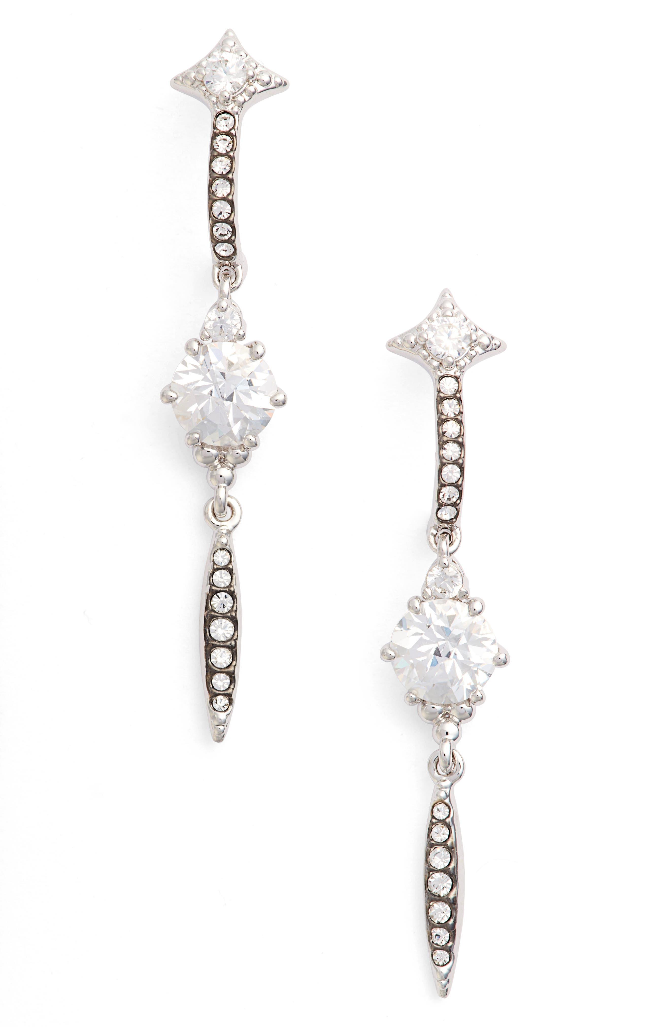 Nadri Cardamom Linear Earrings