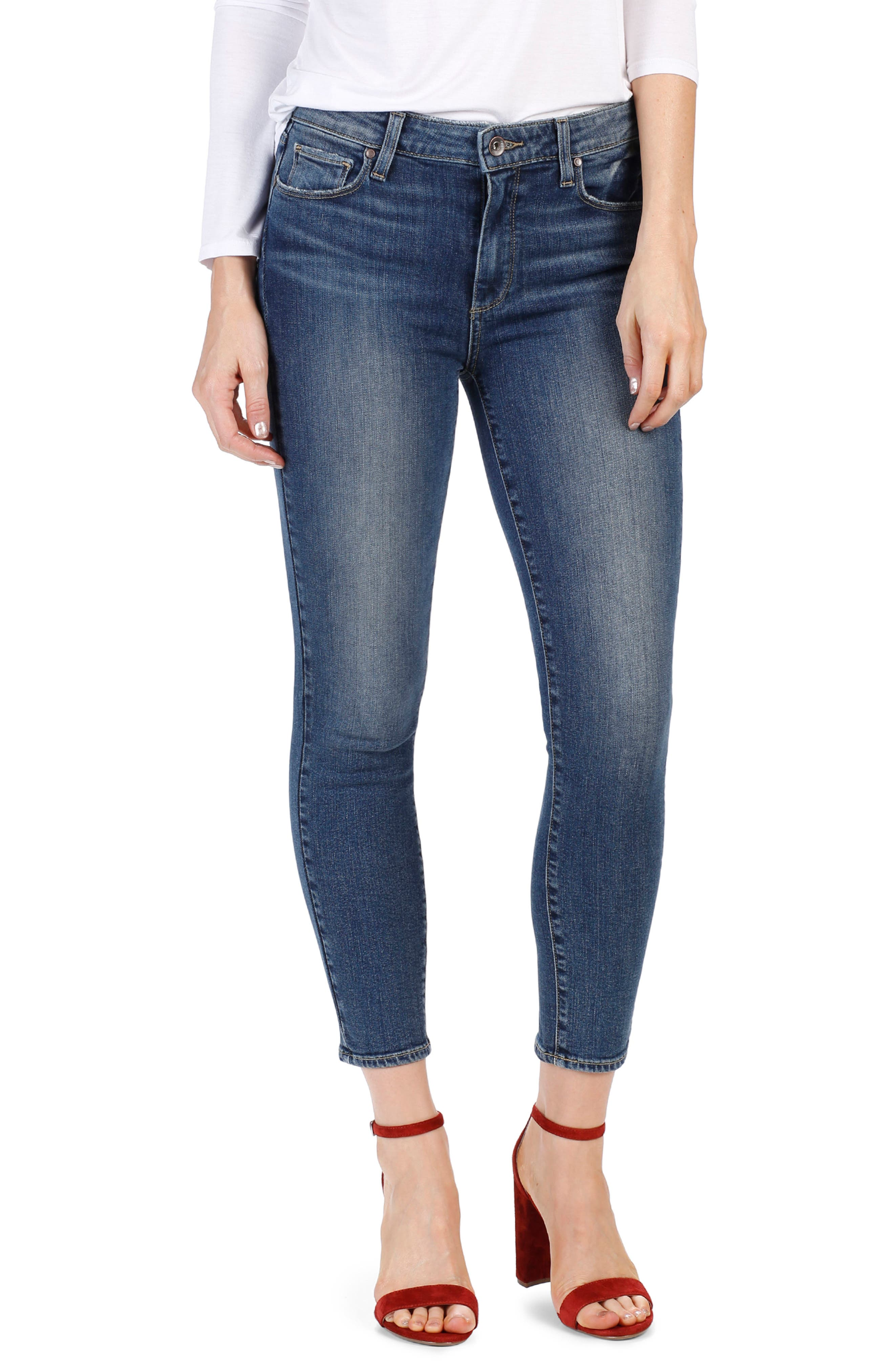 PAIGE Hoxton High Waist Crop Skinny Jeans (Luca)