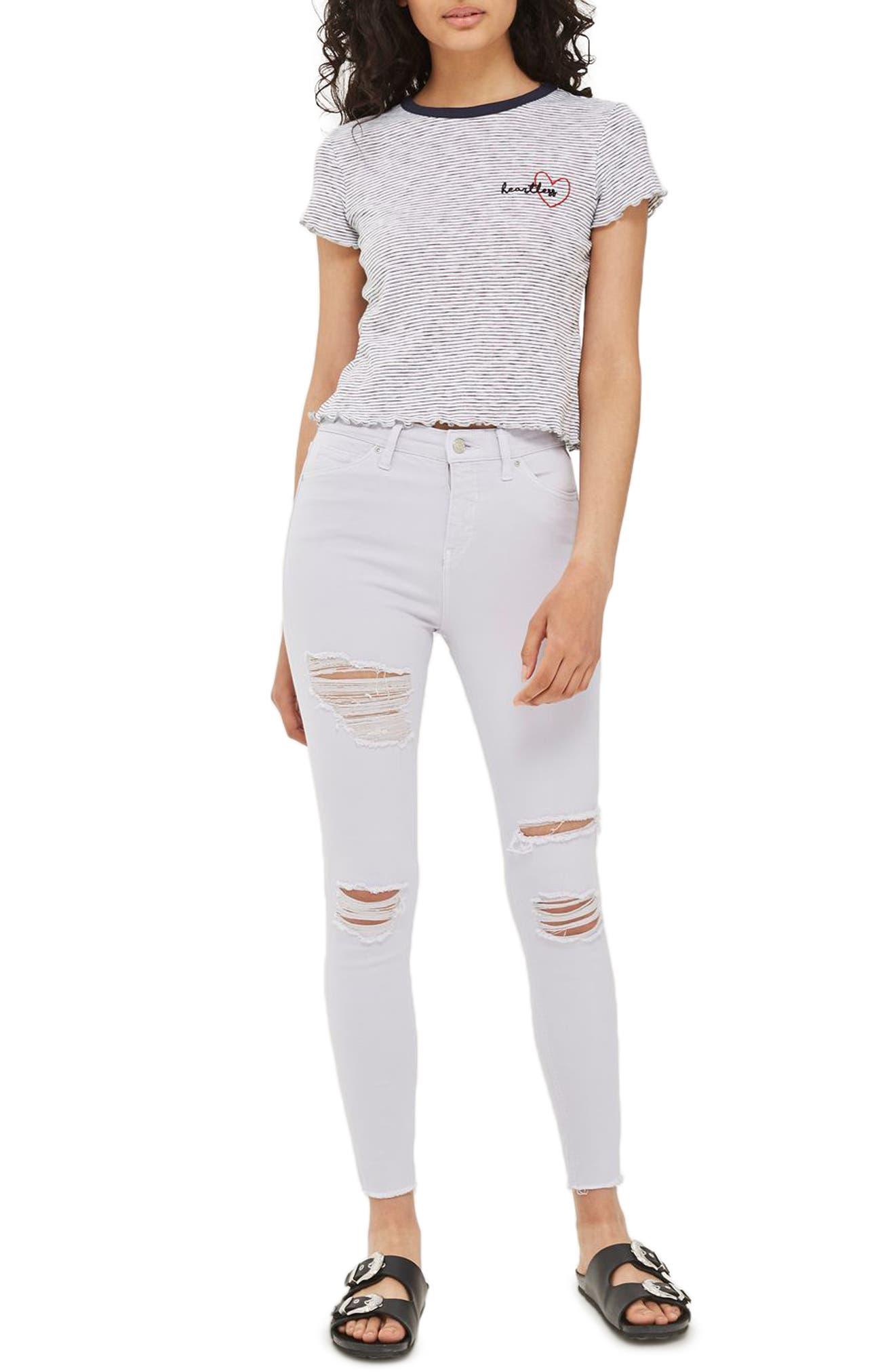 Topshop Jamie Ripped Crop Skinny Jeans
