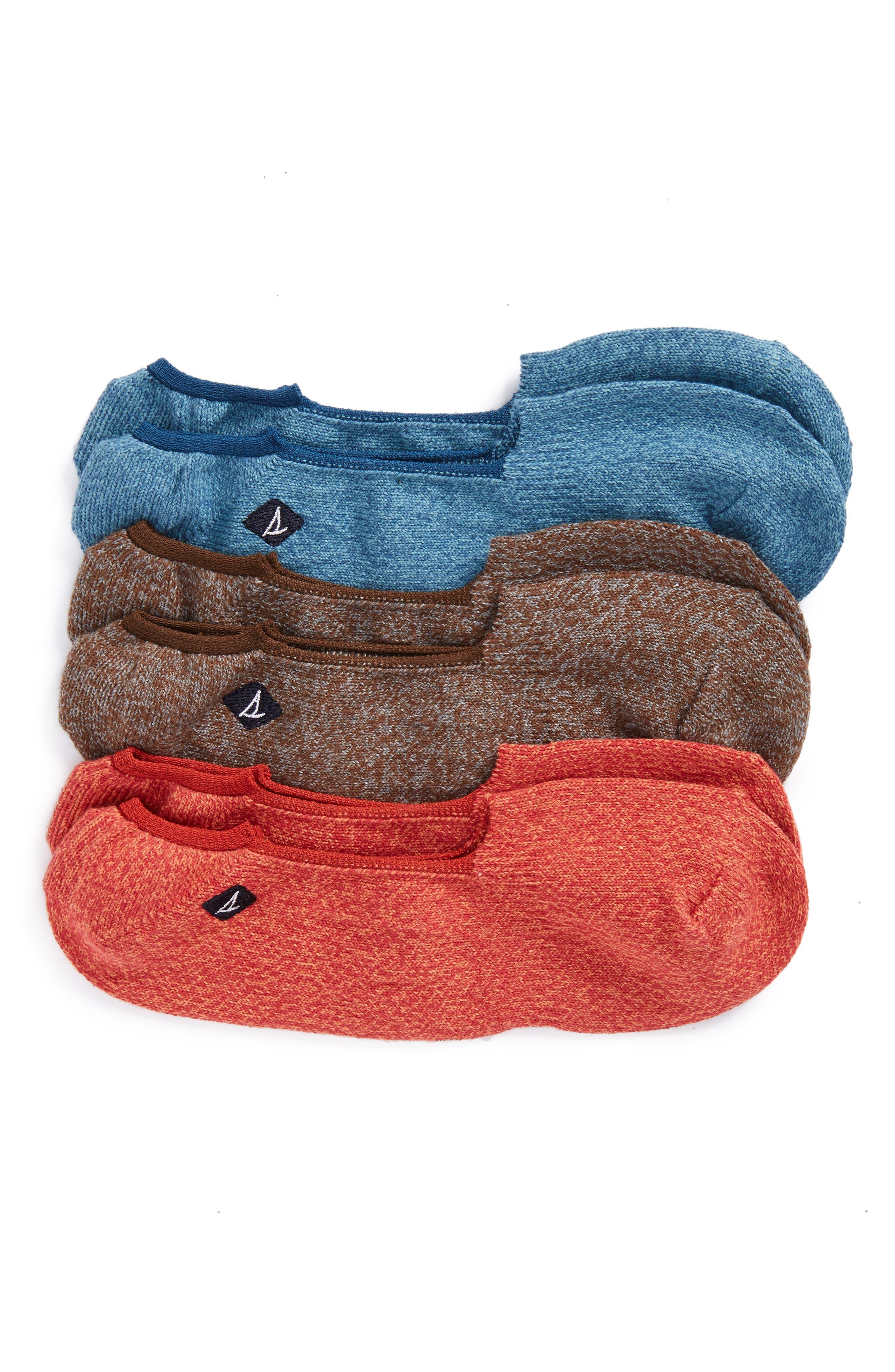 Sperry 3-Pack Solid Liner Socks