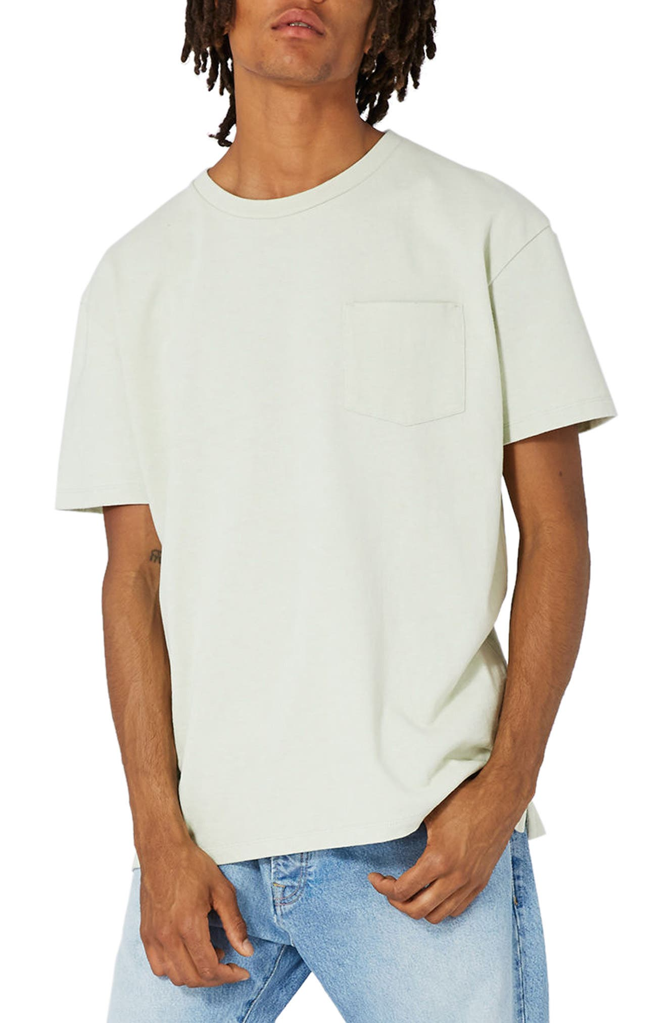 Topman LTD Collection Washed Embroidered T-Shirt