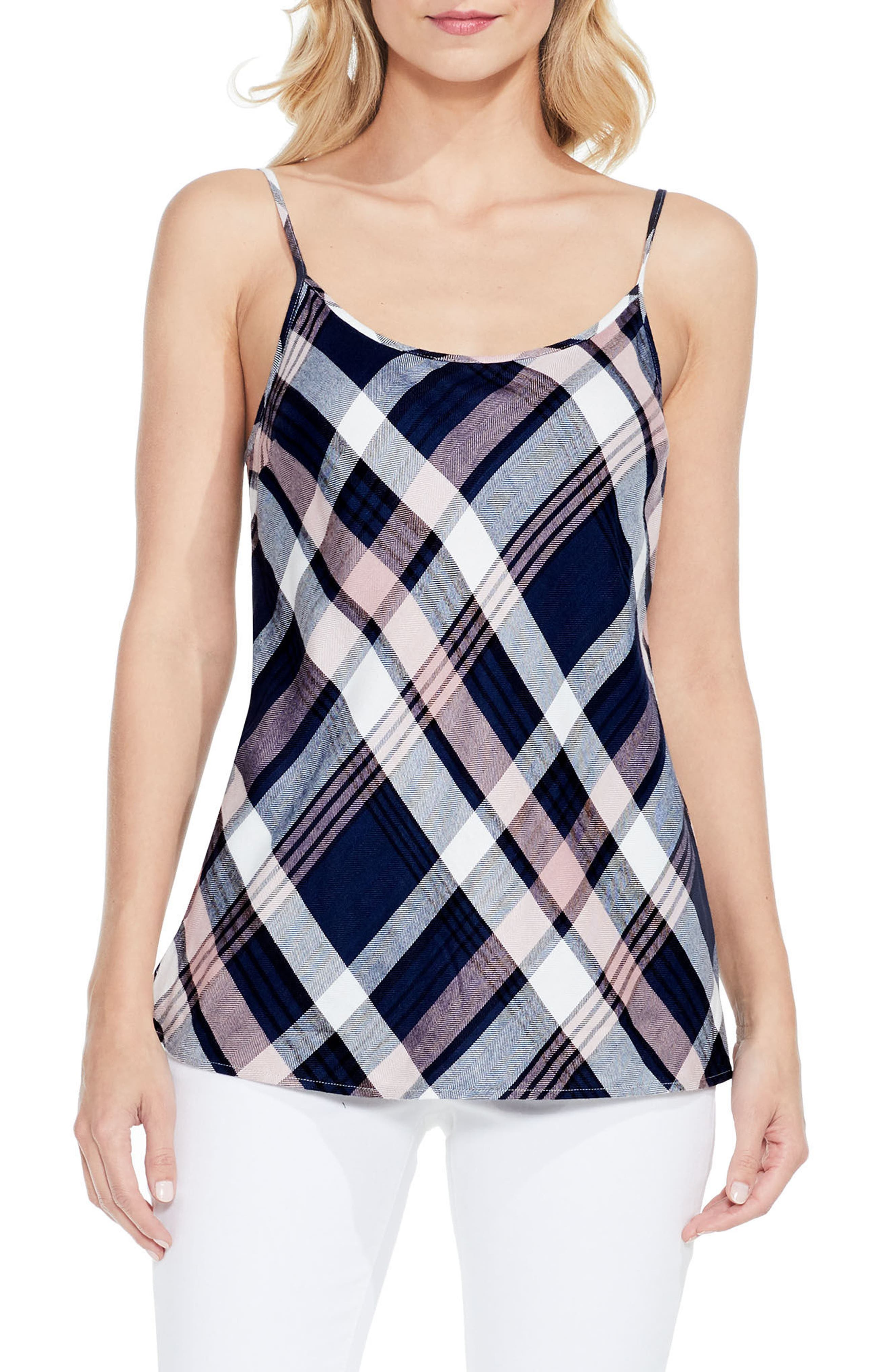 Two by Vince Camuto Brecken Plaid Camisole