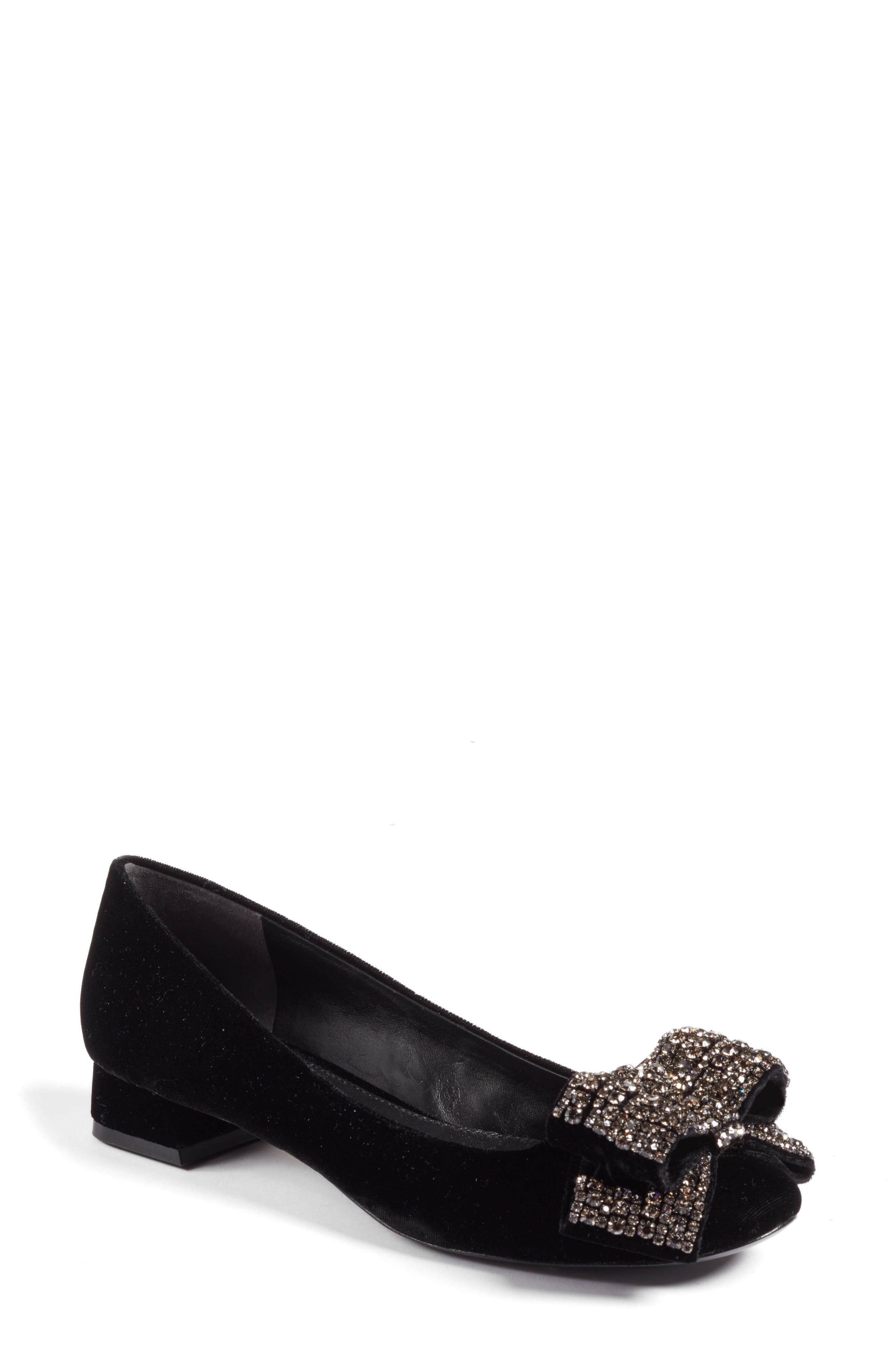 Tory Burch Josephine Embellished Bow Pump (Women)