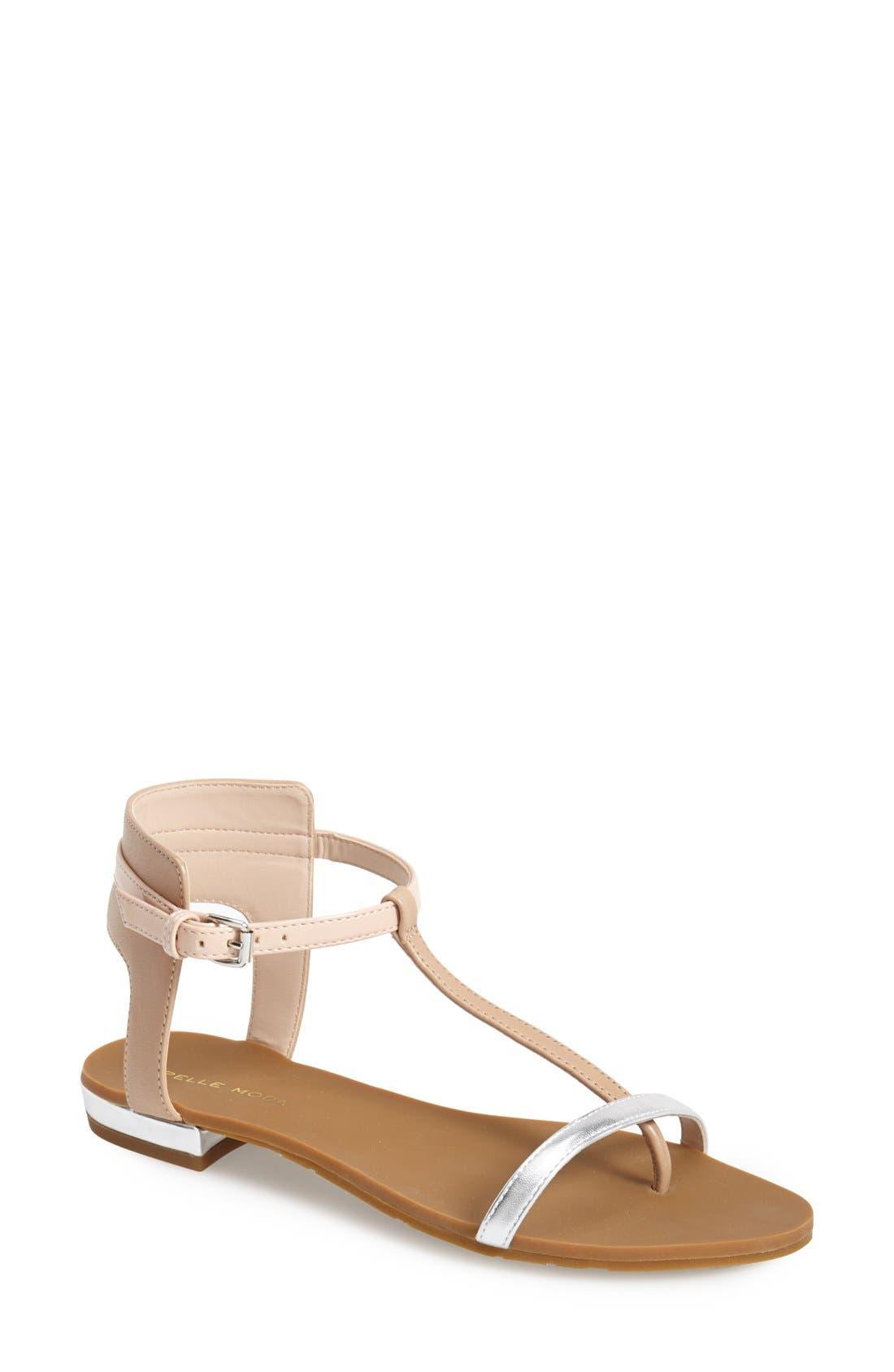 Alternate Image 1 Selected - Pelle Moda 'Bedi' Ankle Strap Thong Sandal (Women)