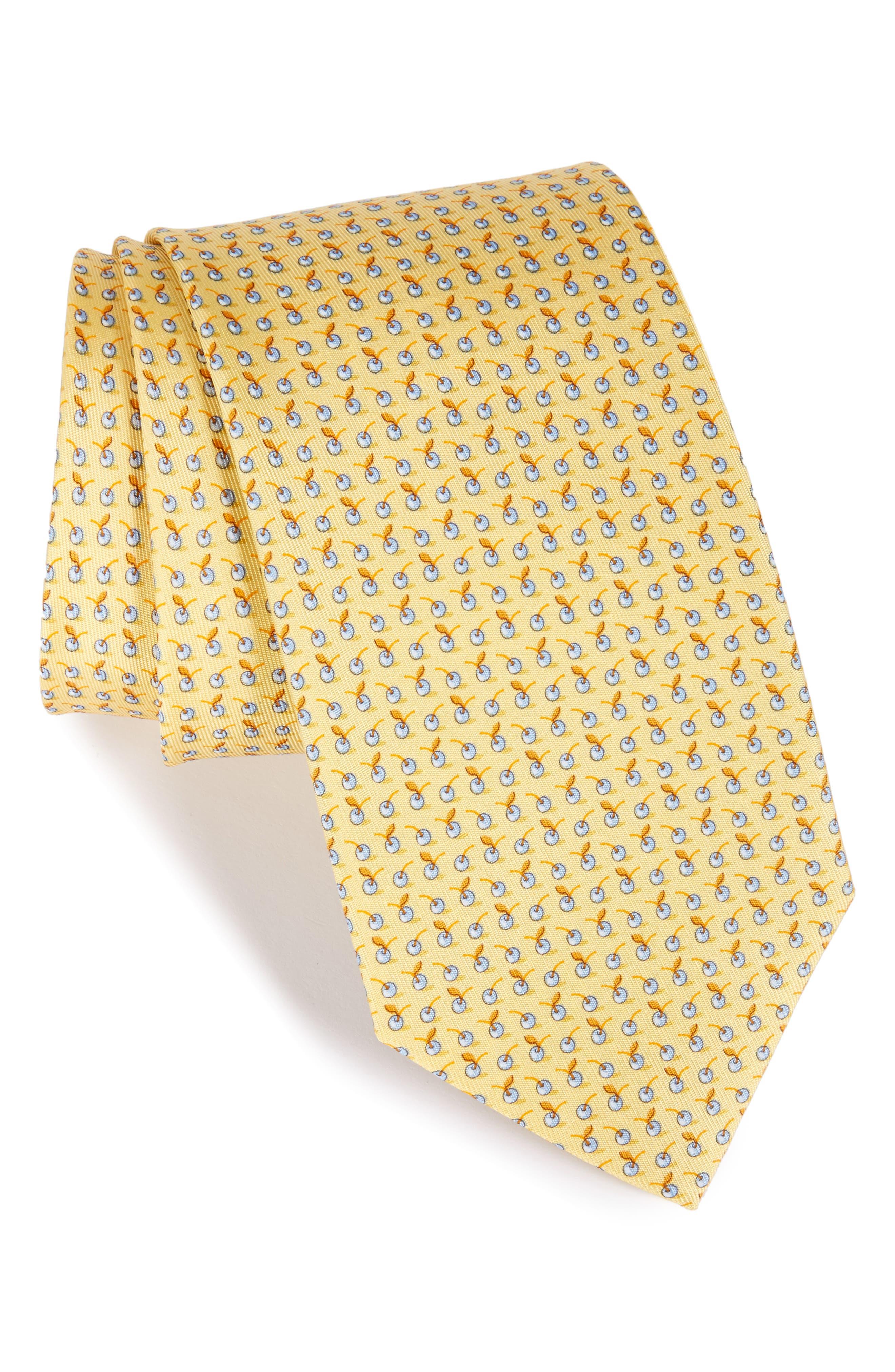 Salvatore Ferragamo Fruit Silk Tie