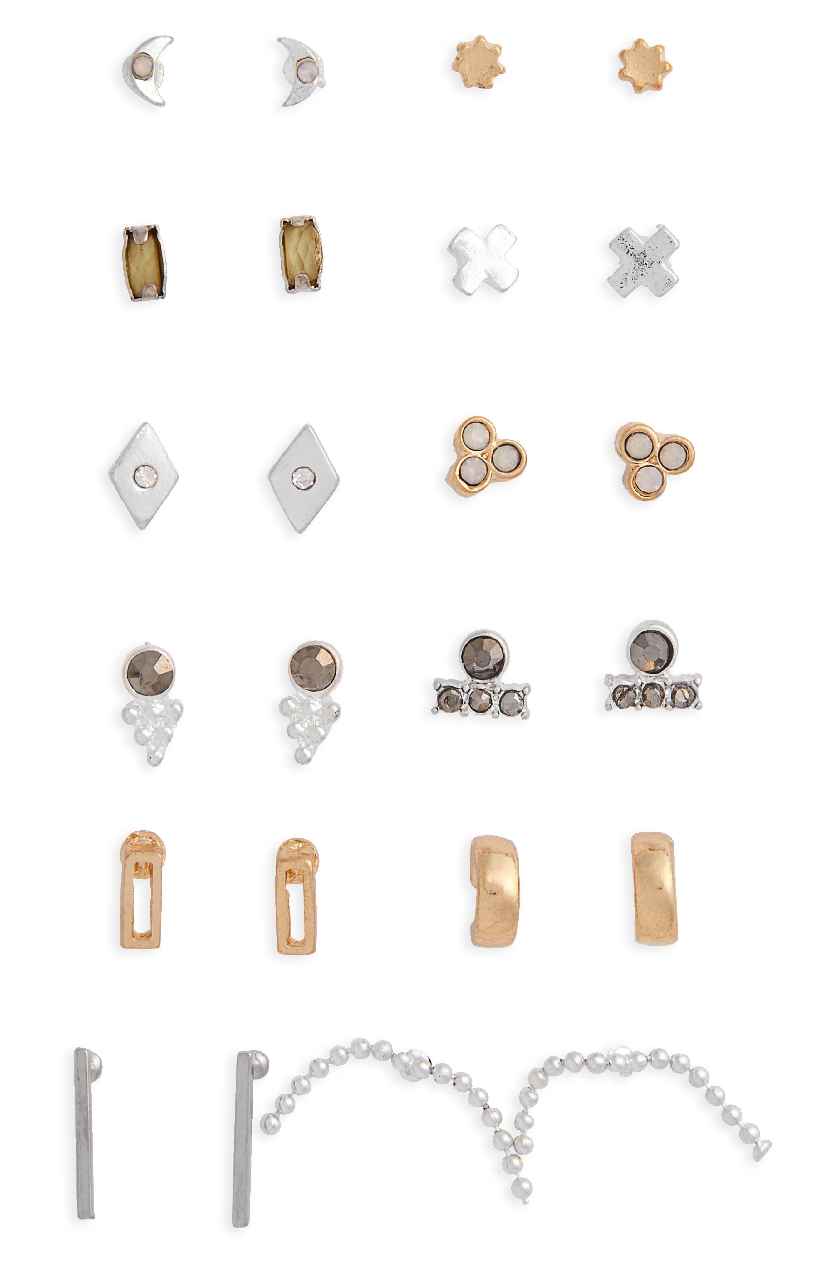 BP. 12-Pack Stud Earrings