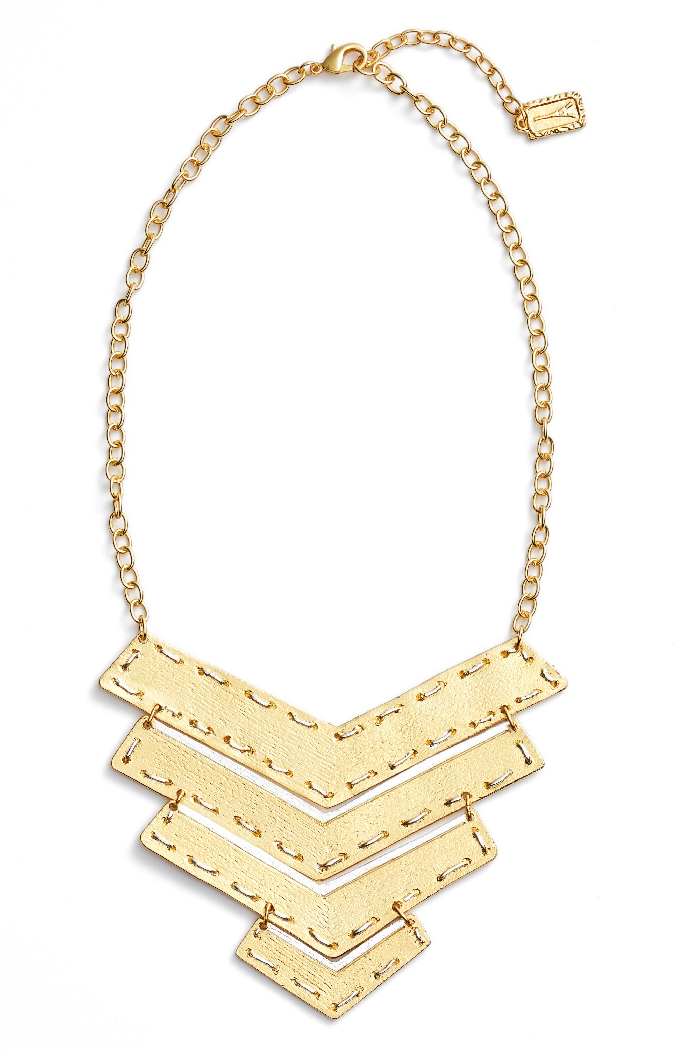 Karine Sultan Chevron Pendant Necklace