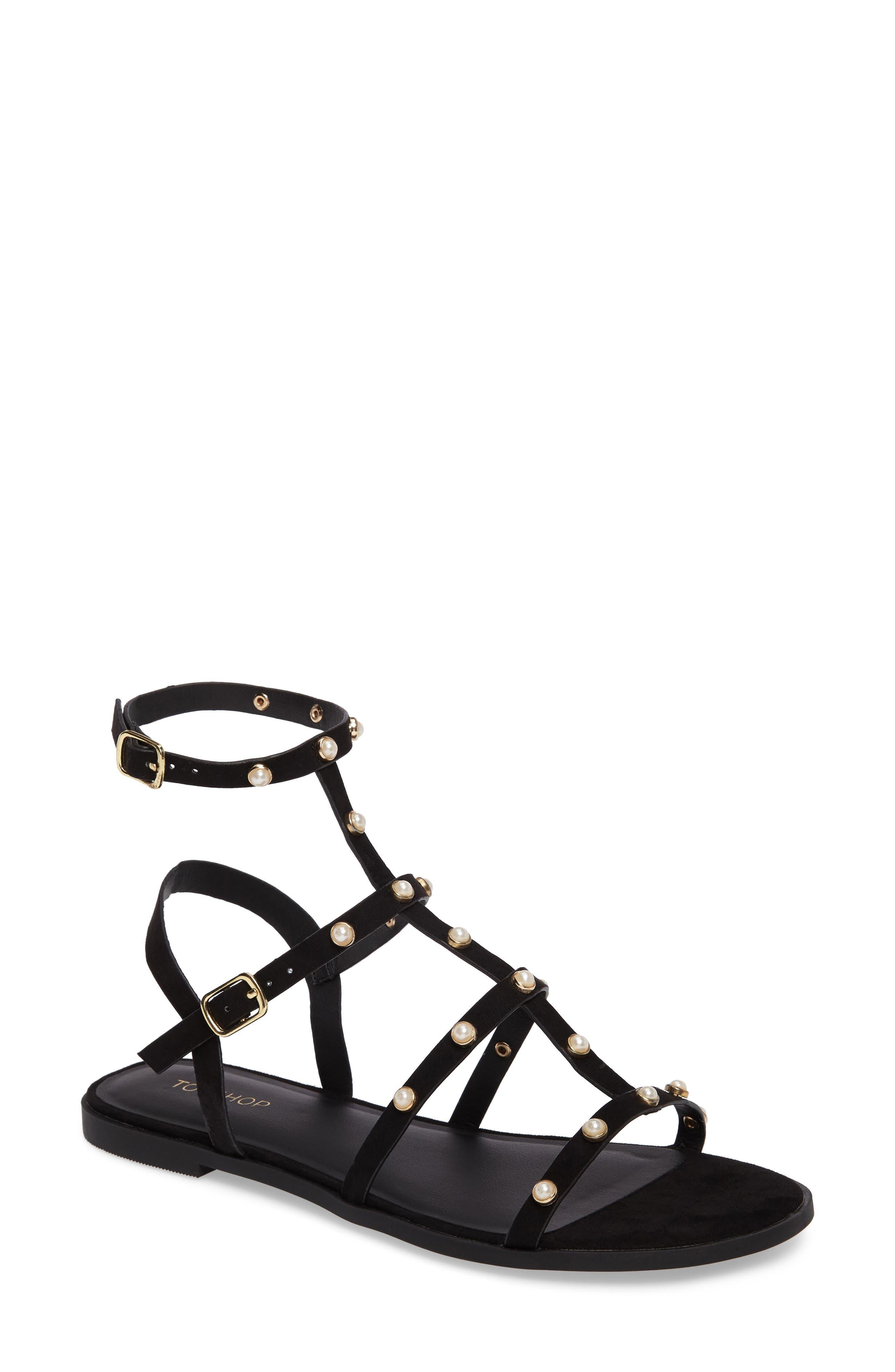 Topshop Hive Pearl Gladiator Sandal (Women)
