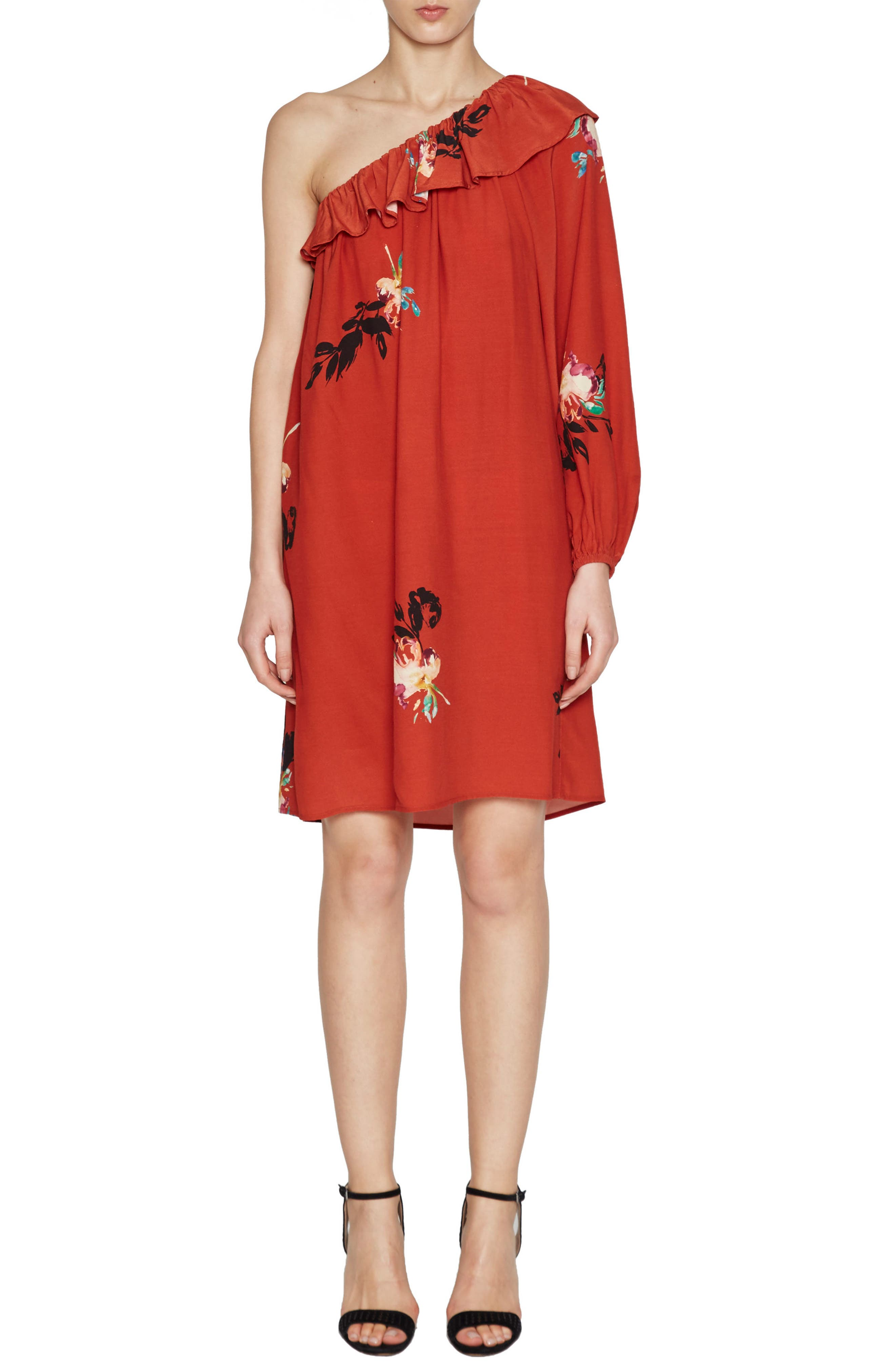 French Connection Delphine One-Shoulder Dress