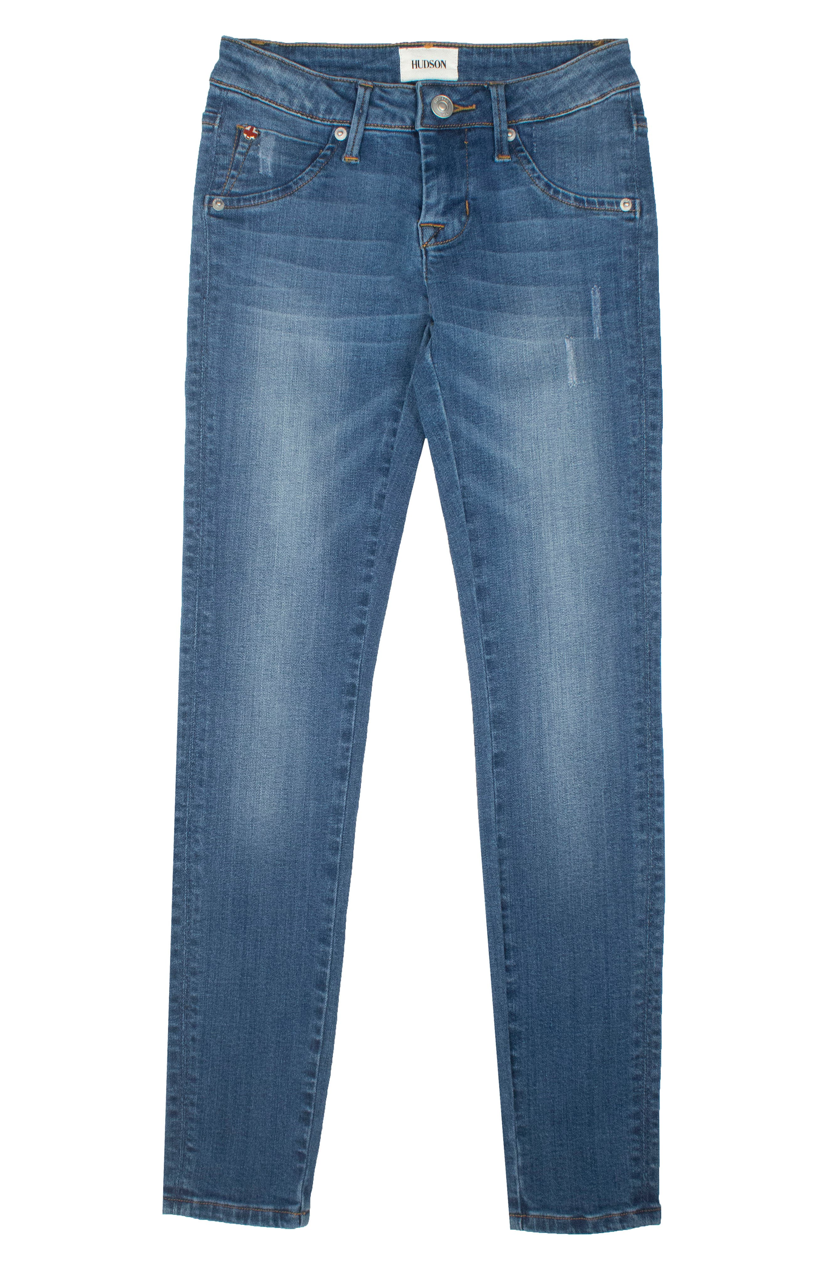 Hudson Kids Christa Flap Pocket Skinny Jeans (Toddler Girls & Little Girls)