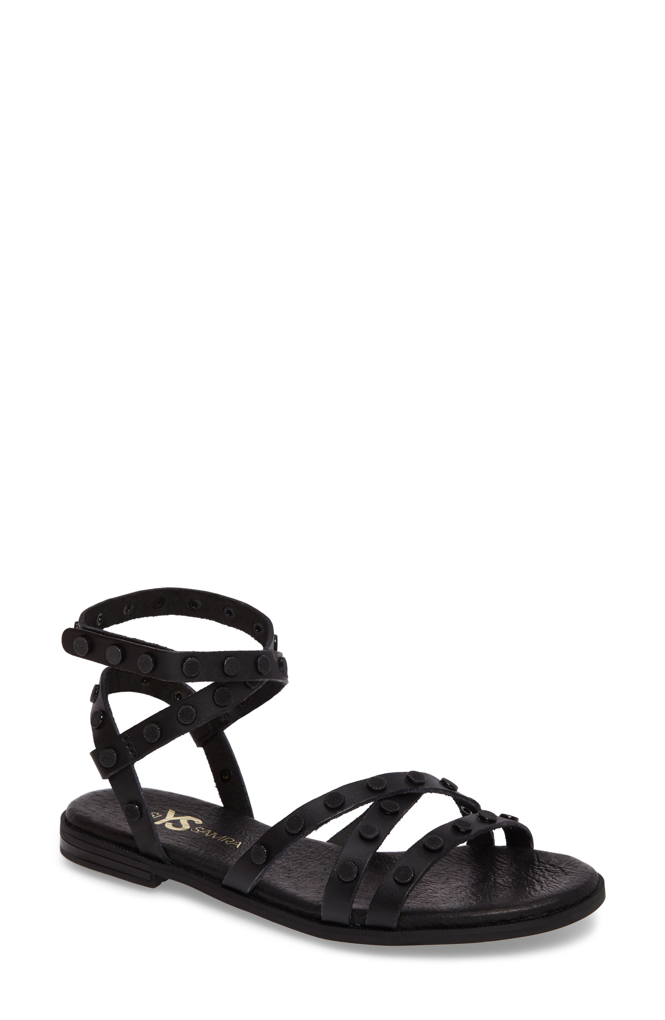 Yosi Samra Madison Flat Stud Sandal (Women)