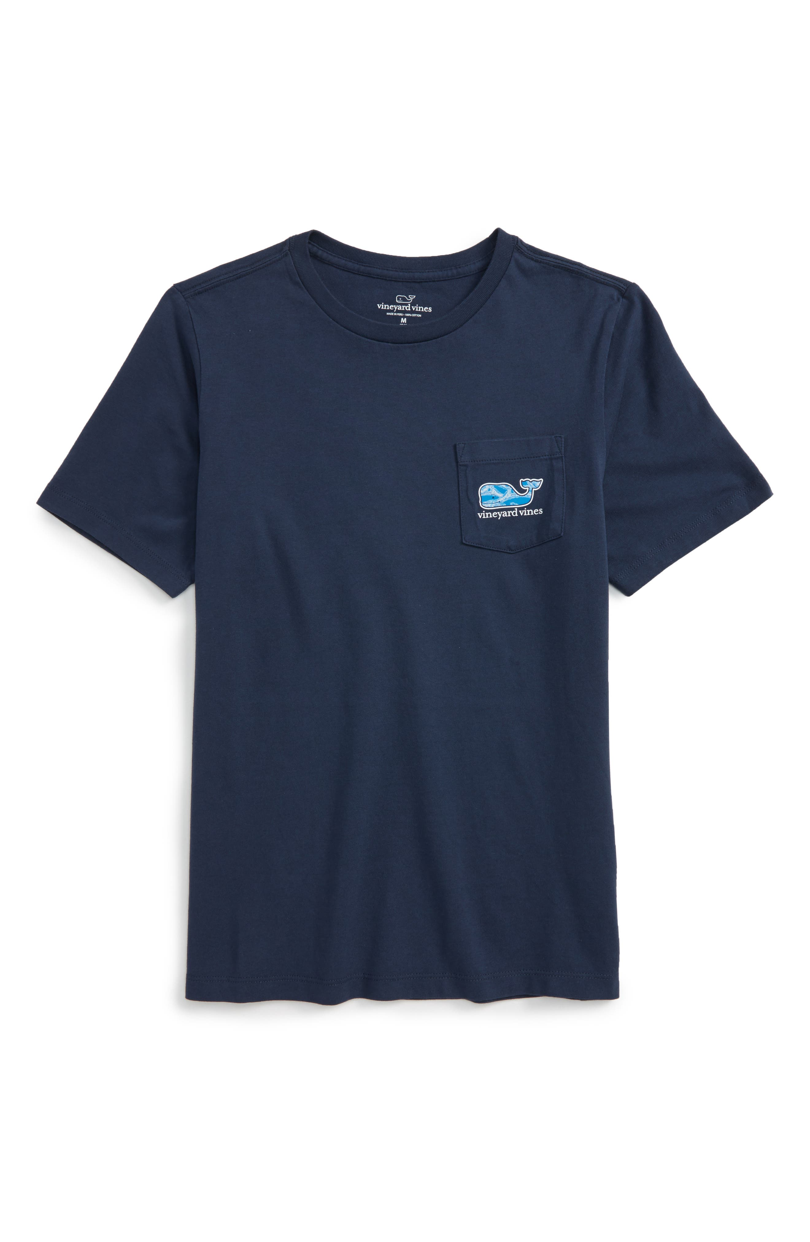 Vineyard Vines Marlin Whale Pocket T-Shirt (Toddler Boys, Little Boys & Big Boys)