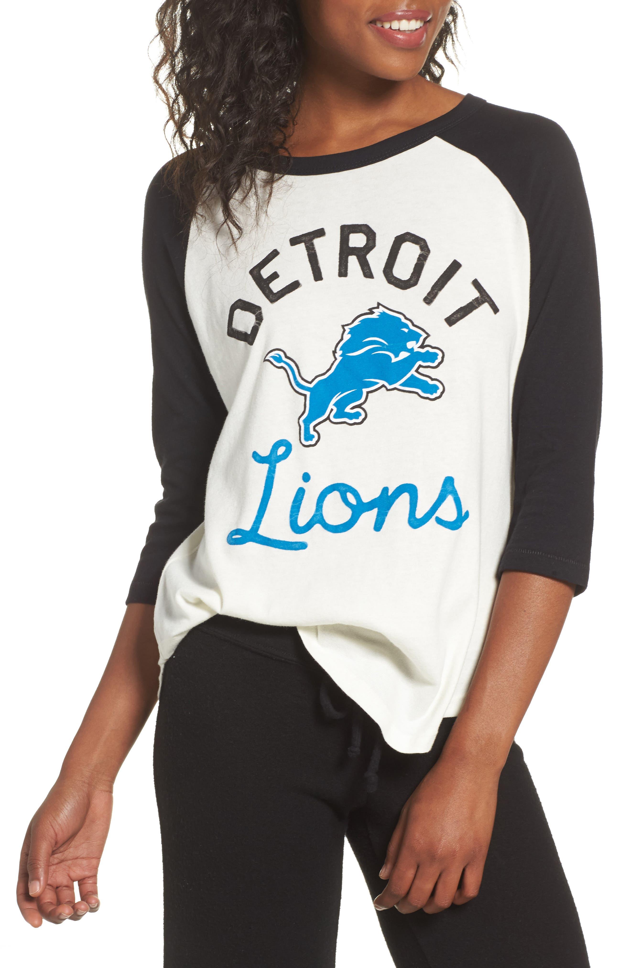 Junk Food NFL Detroit Lions Raglan Tee