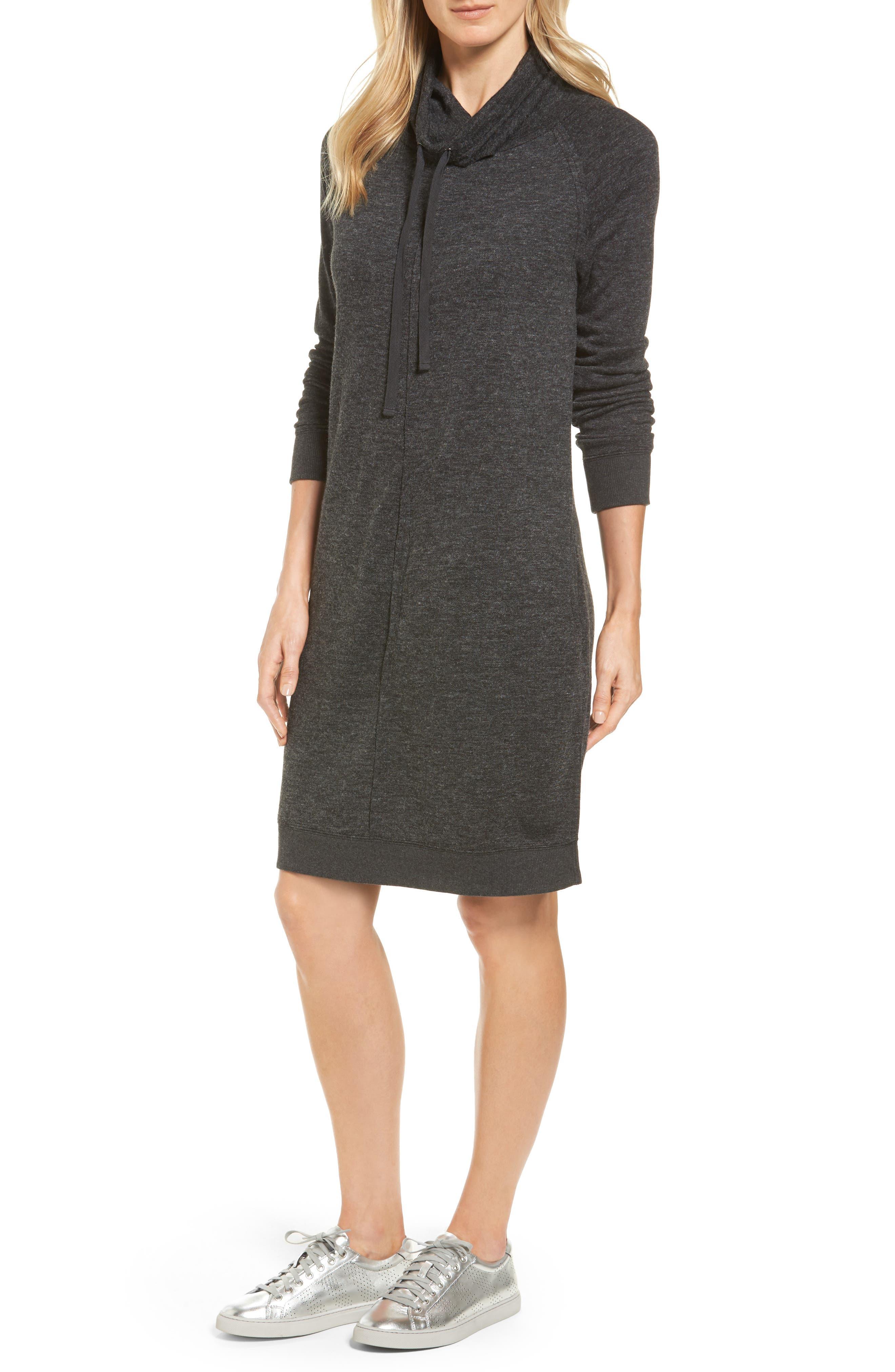 Alternate Image 1 Selected - Caslon® Sweatshirt Dress (Regular & Petite)