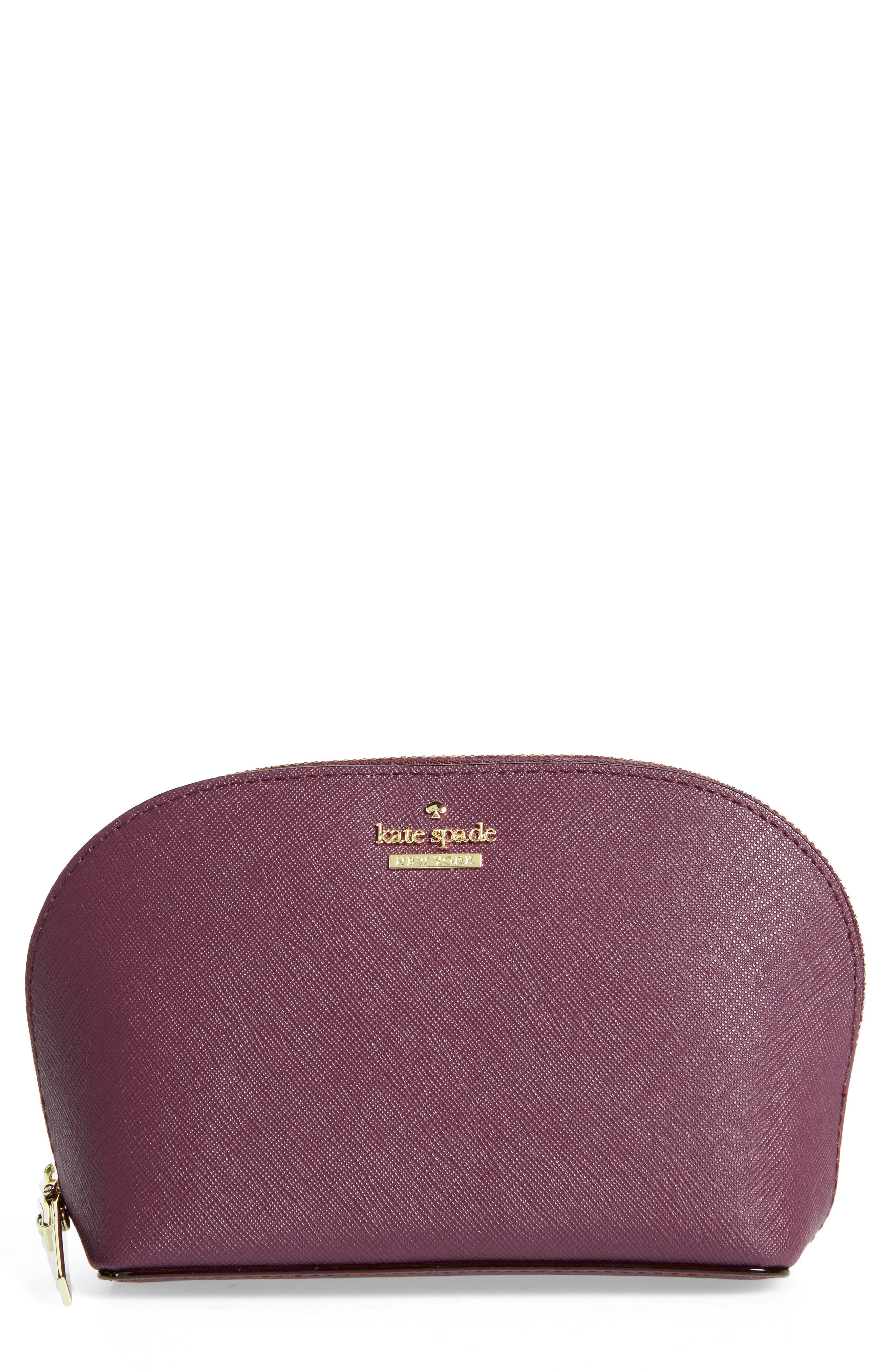 kate spade new york cameron street - small abalene leather cosmetics case