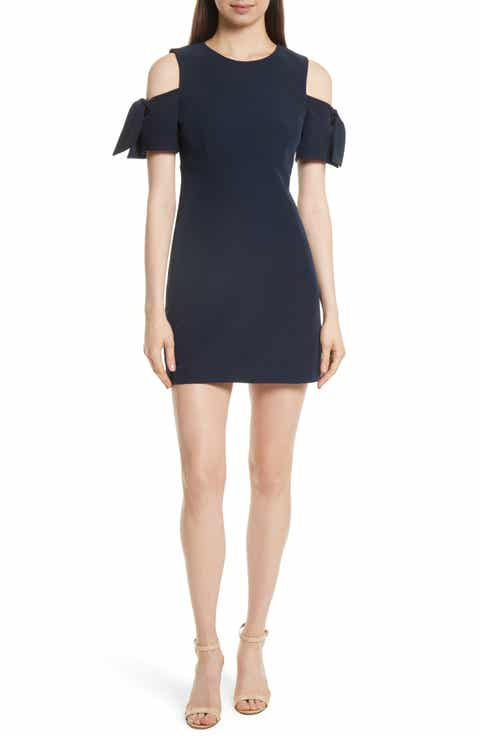 milly italian cady mod tie cold shoulder minidress