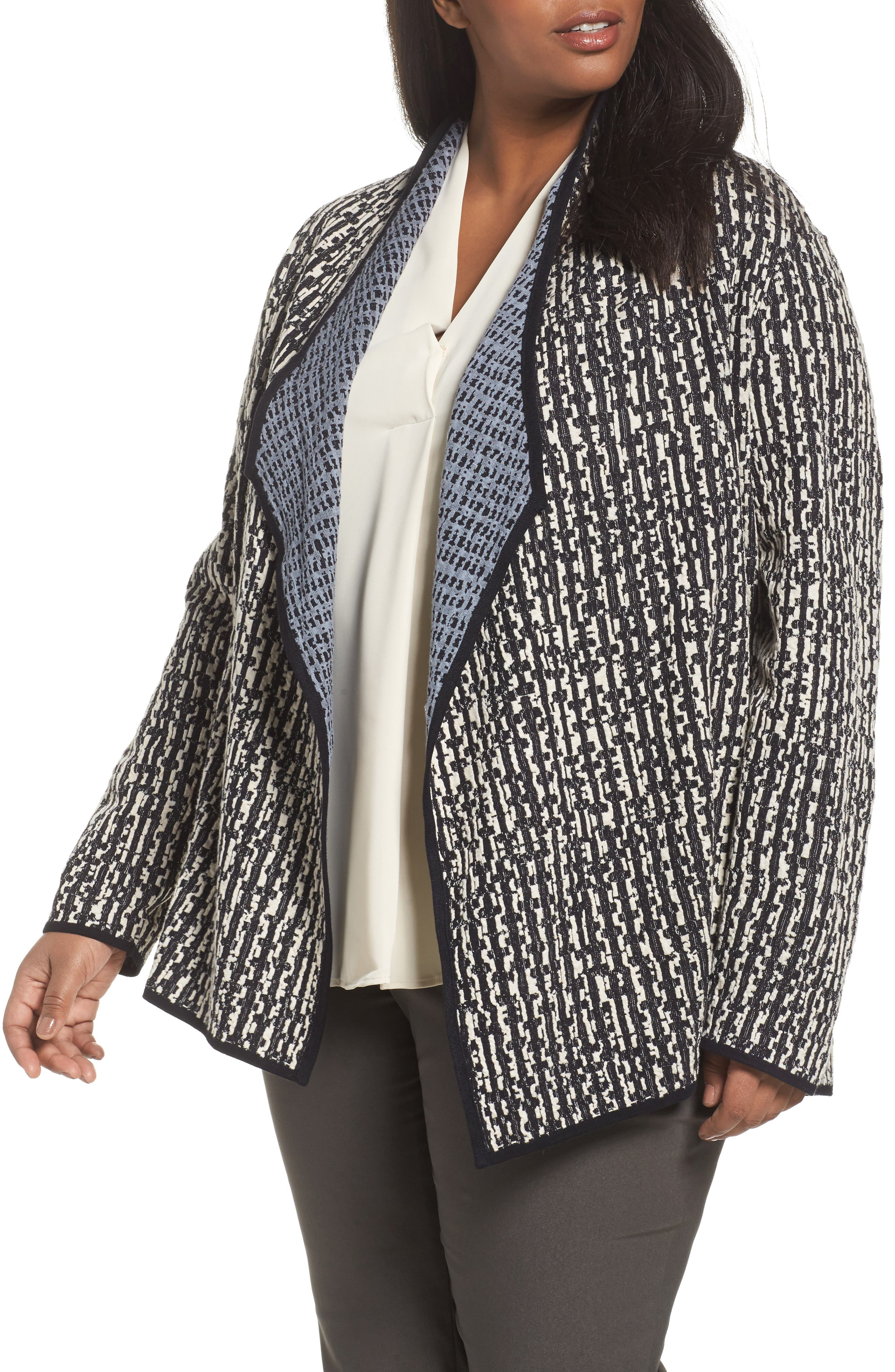NIC+ZOE Sunbloom Reversible Open Front Cardigan (Plus Size)