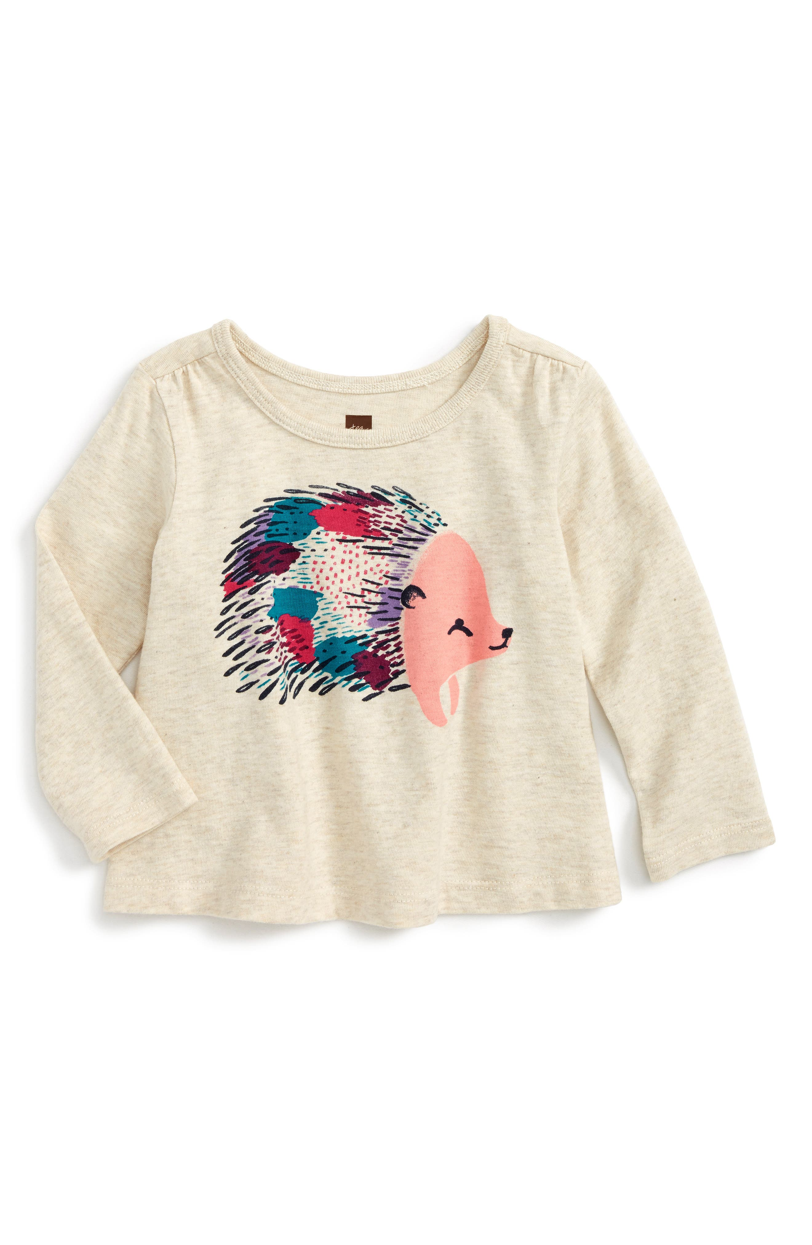 Tea Collection Hedgehog Graphic Tee (Baby Girls)