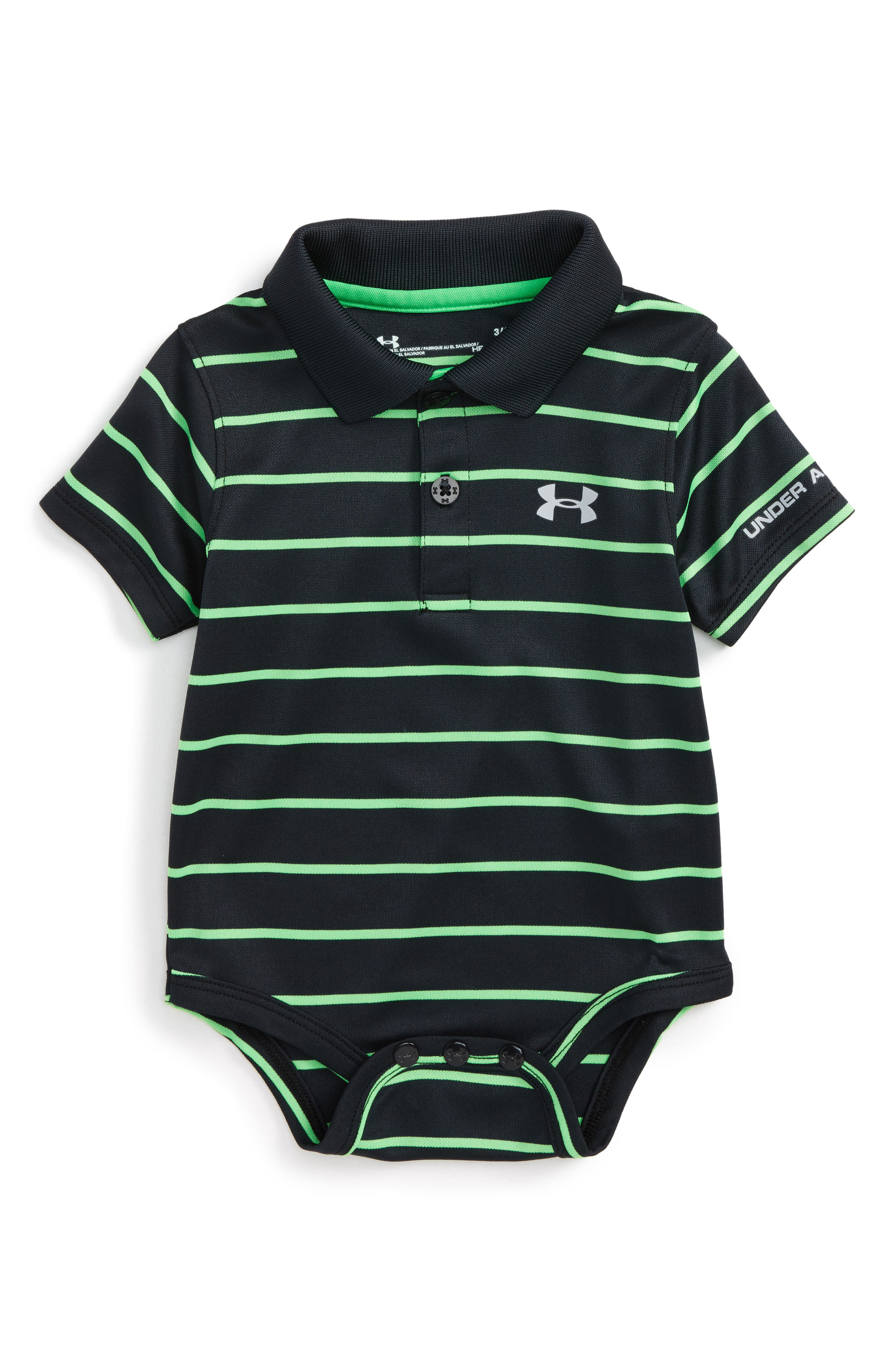 Under Armour Playoff Stripe Polo Bodysuit (Baby Boys)