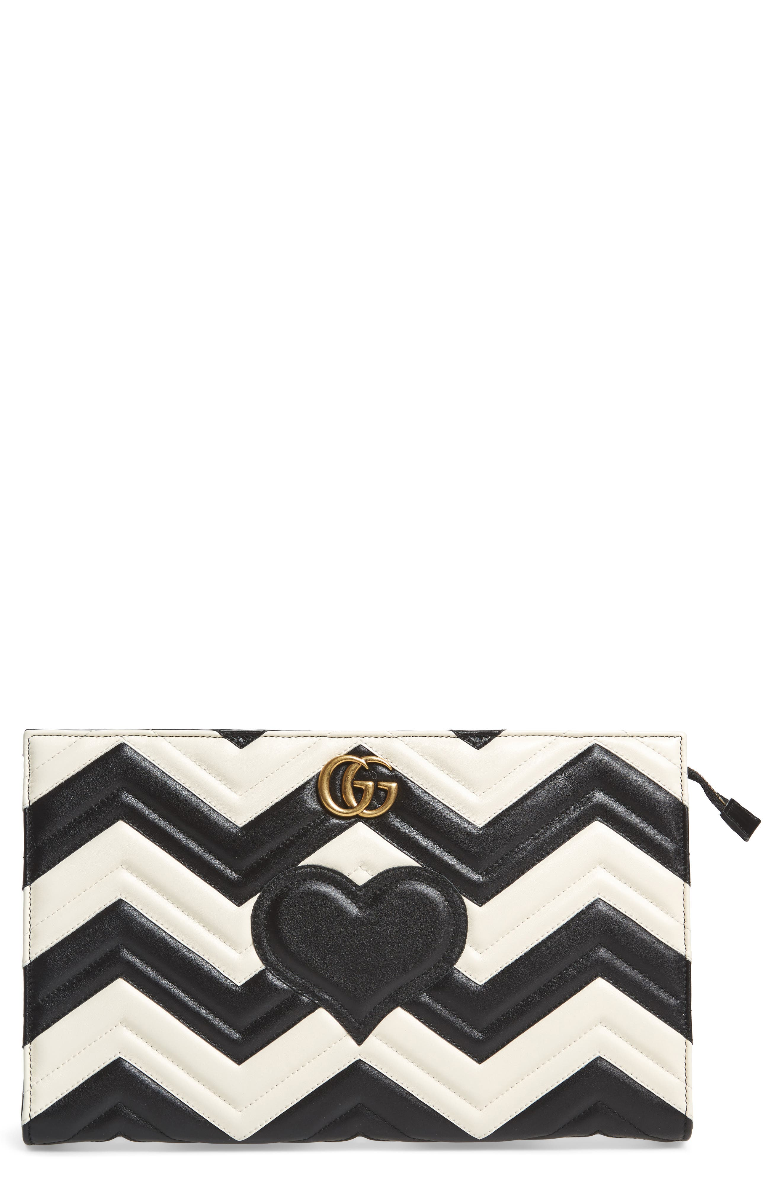 Gucci GG Marmont Matelassé Leather Clutch