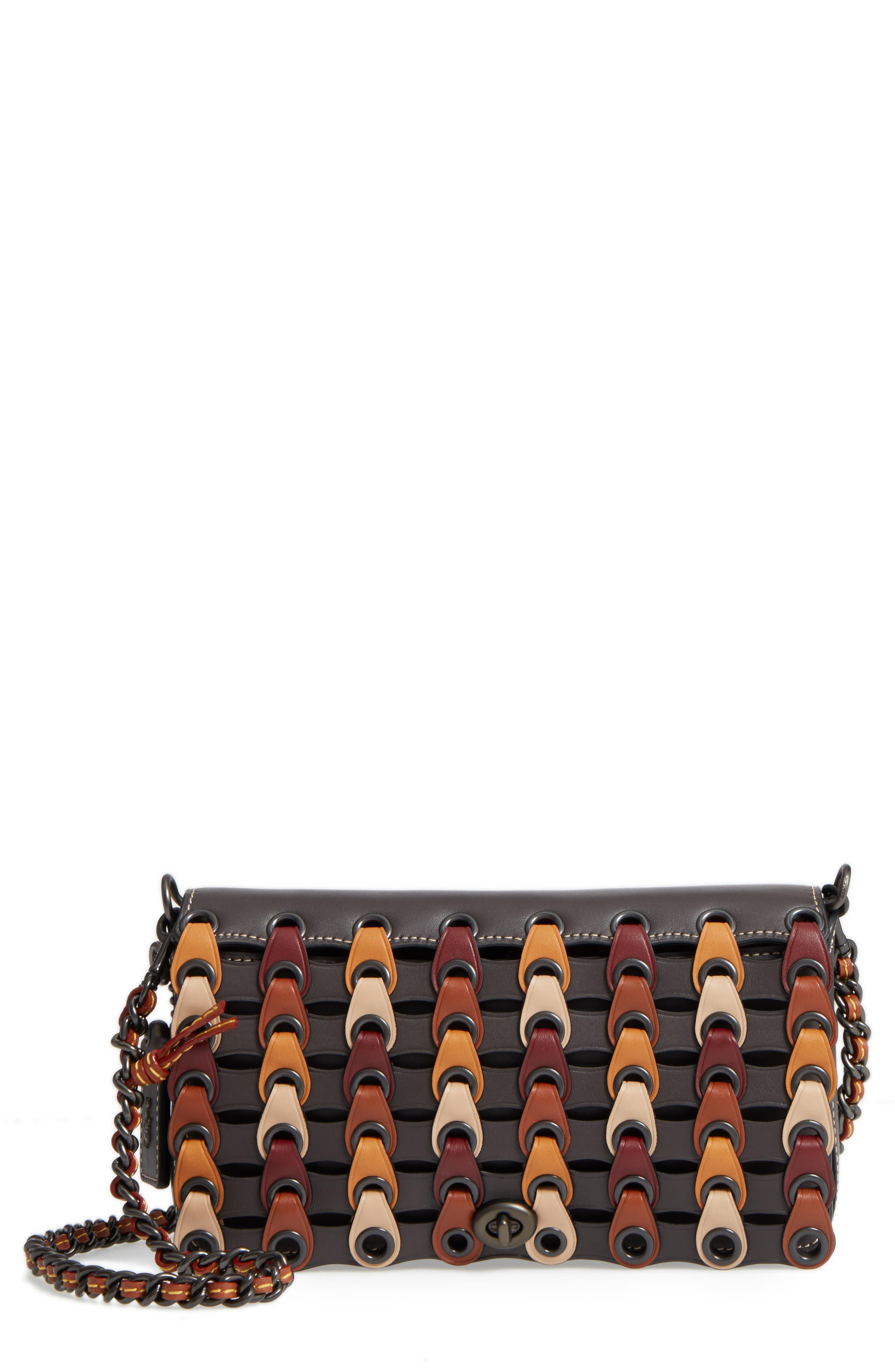 COACH 1941 Dinky Colorblock Linked Crossbody Bag