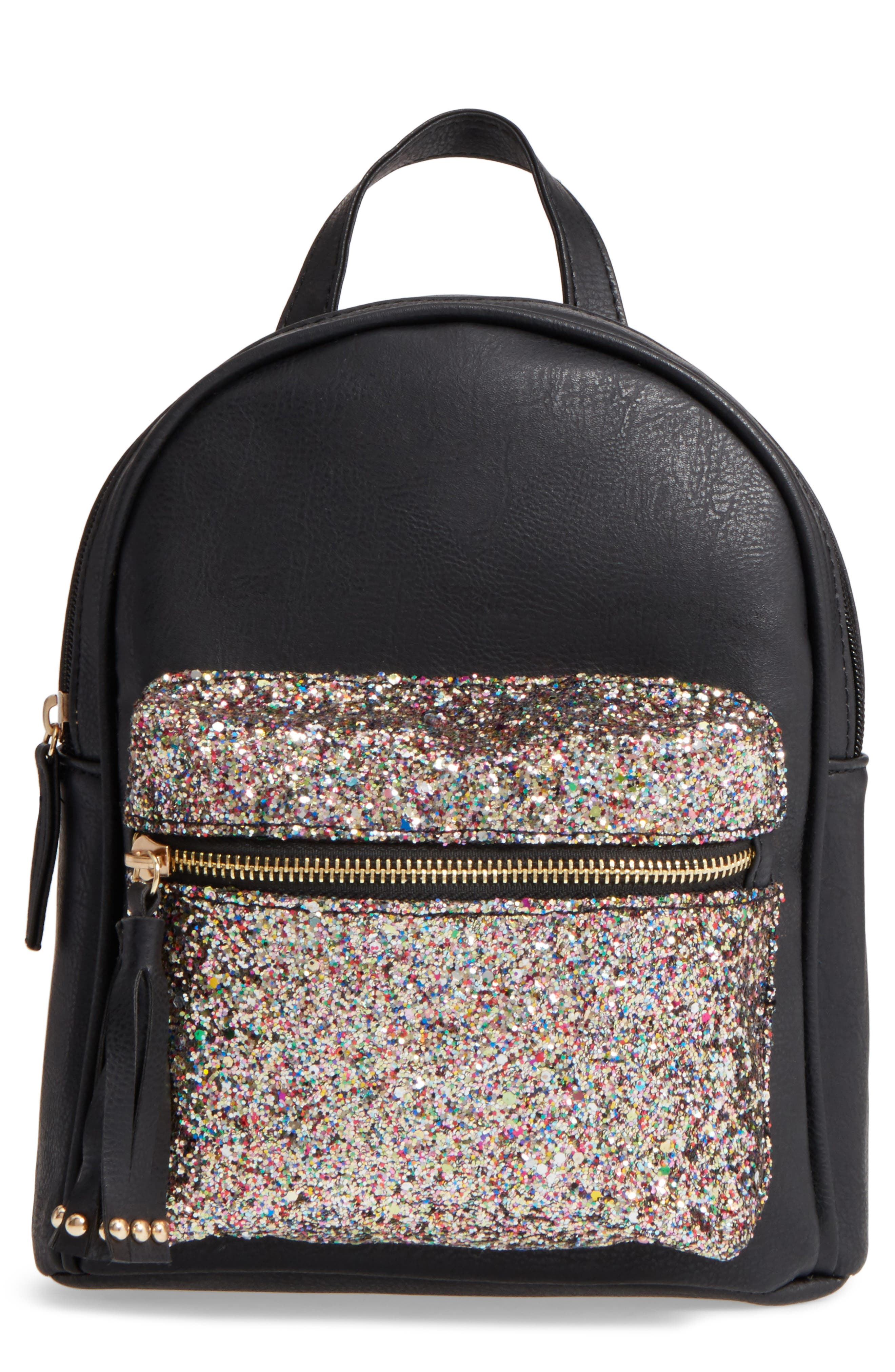 OMG Glitter Pocket Mini Backpack (Kids)