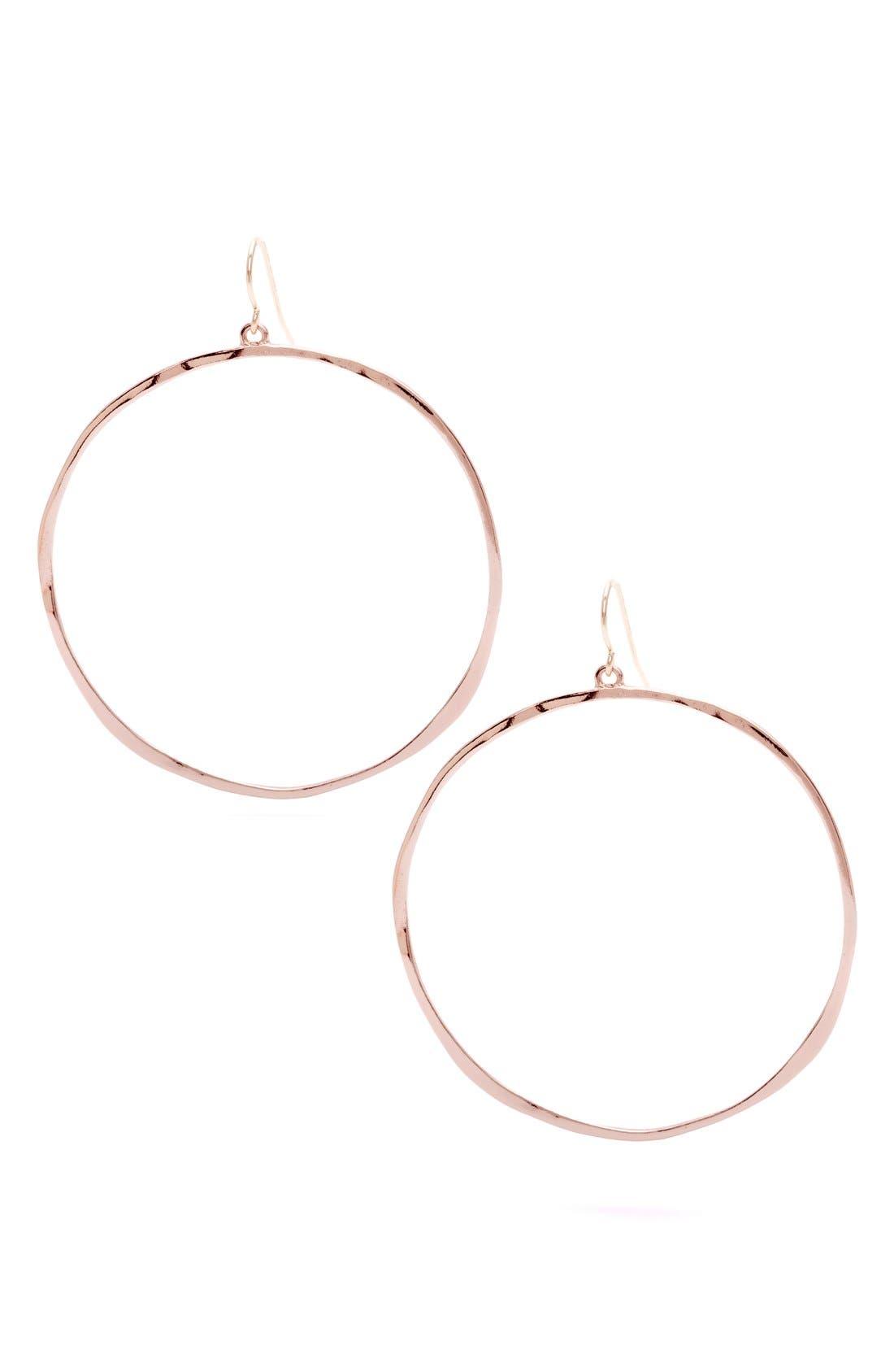 Alternate Image 1 Selected - gorjana G-Ring Frontal Hoop Earrings