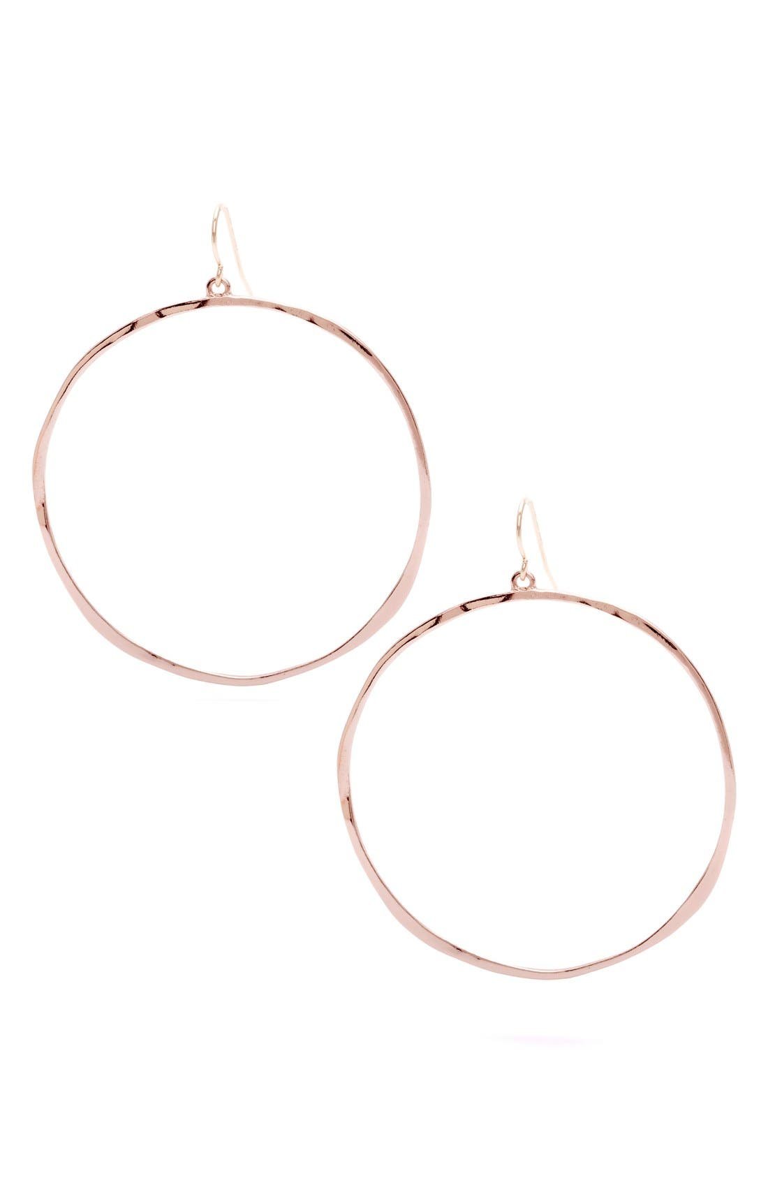 Main Image - gorjana G-Ring Frontal Hoop Earrings