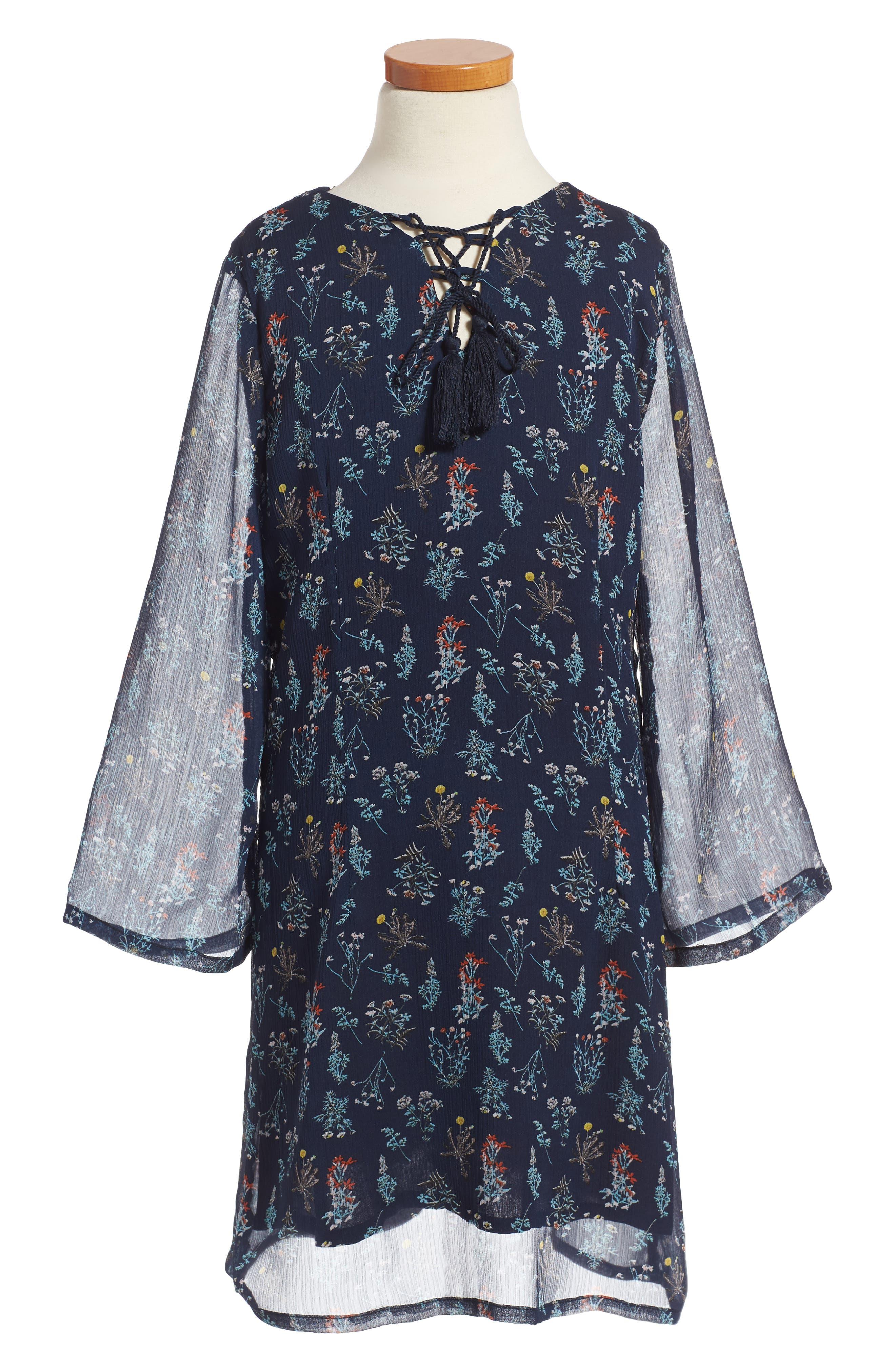 For All Seasons Print Shift Dress (Big Girls)
