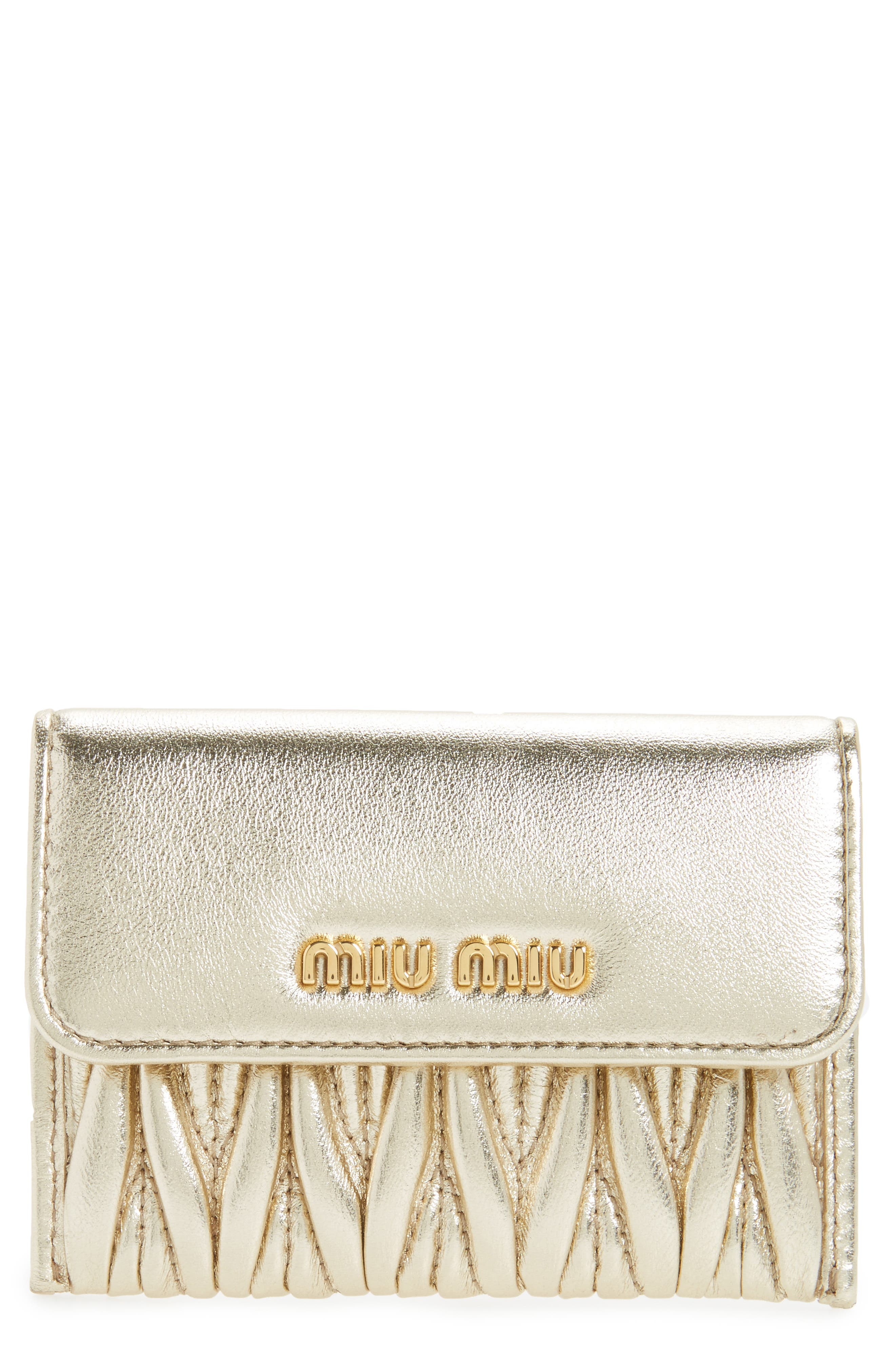 Miu Miu Matelassé Leather Wristlet