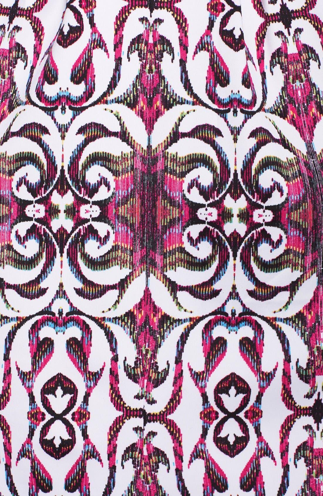Alternate Image 4  - Gabby Skye Print Scuba Fit & Flare Dress
