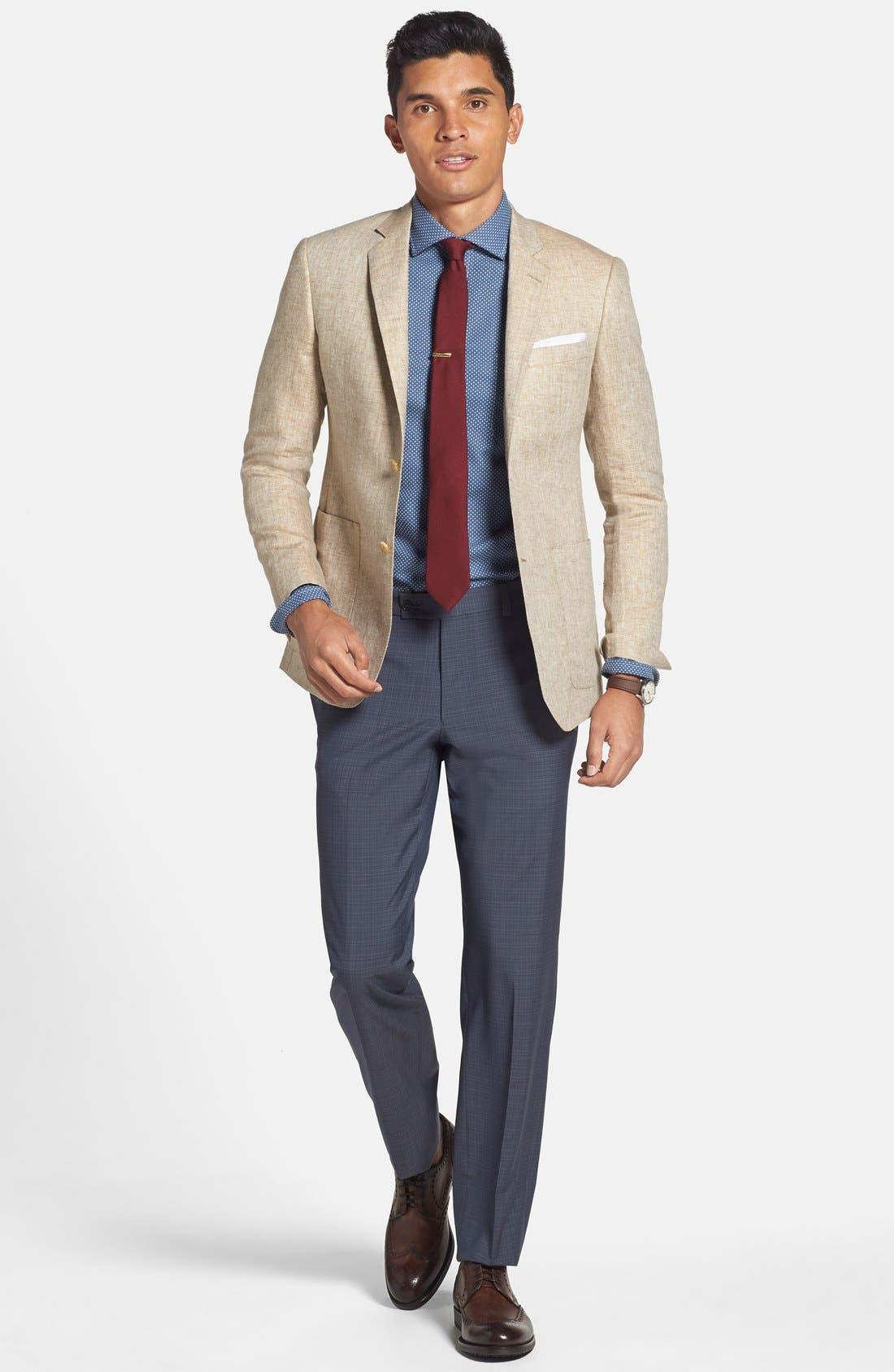 Alternate Image 3  - The Tie Bar Wool & Silk Solid Tie (Online Only)