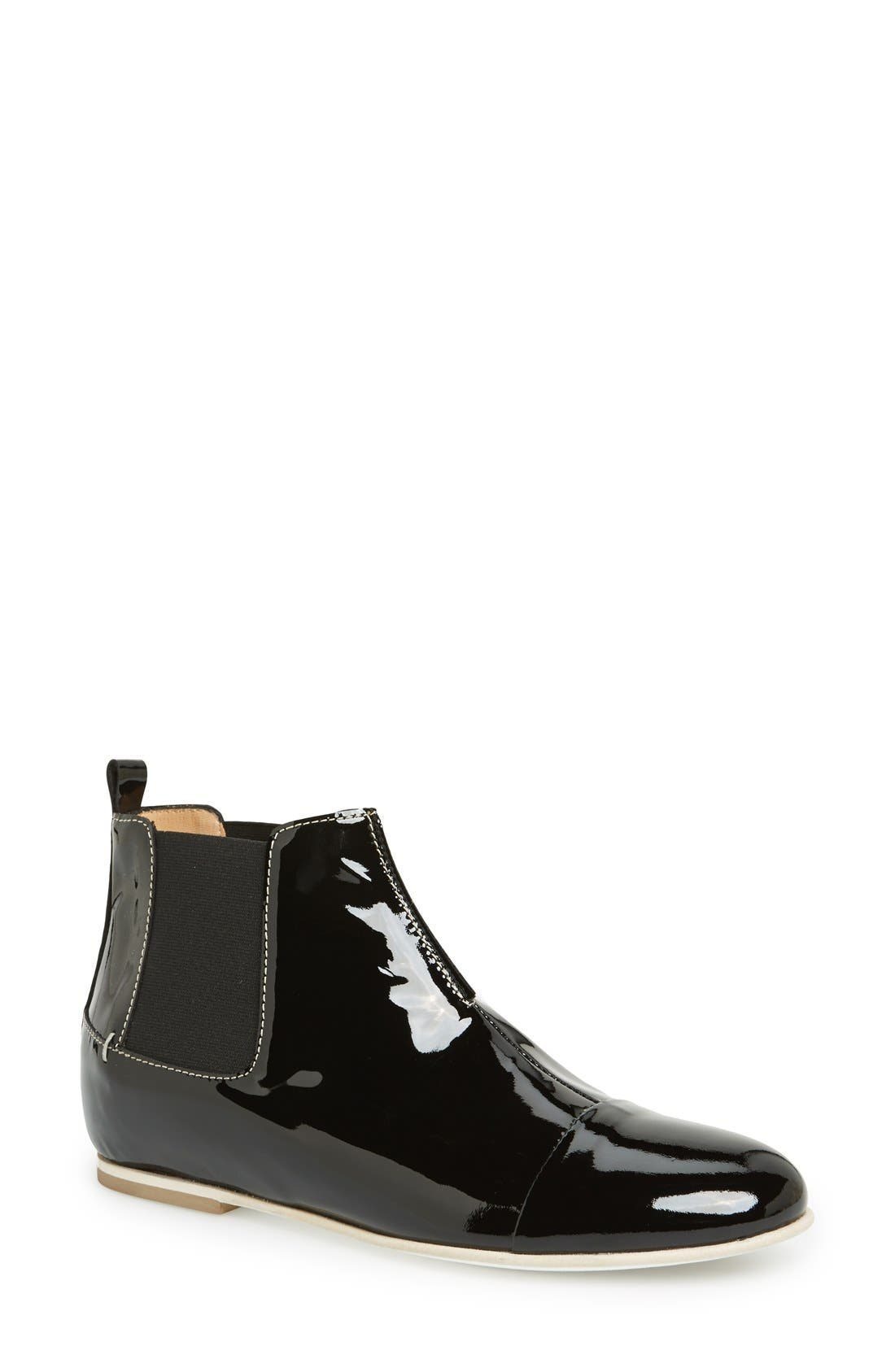 Alternate Image 1 Selected - Aquatalia by Marvin K. 'Chime' Weatherproof Patent Leather Chelsea Boot (Women)